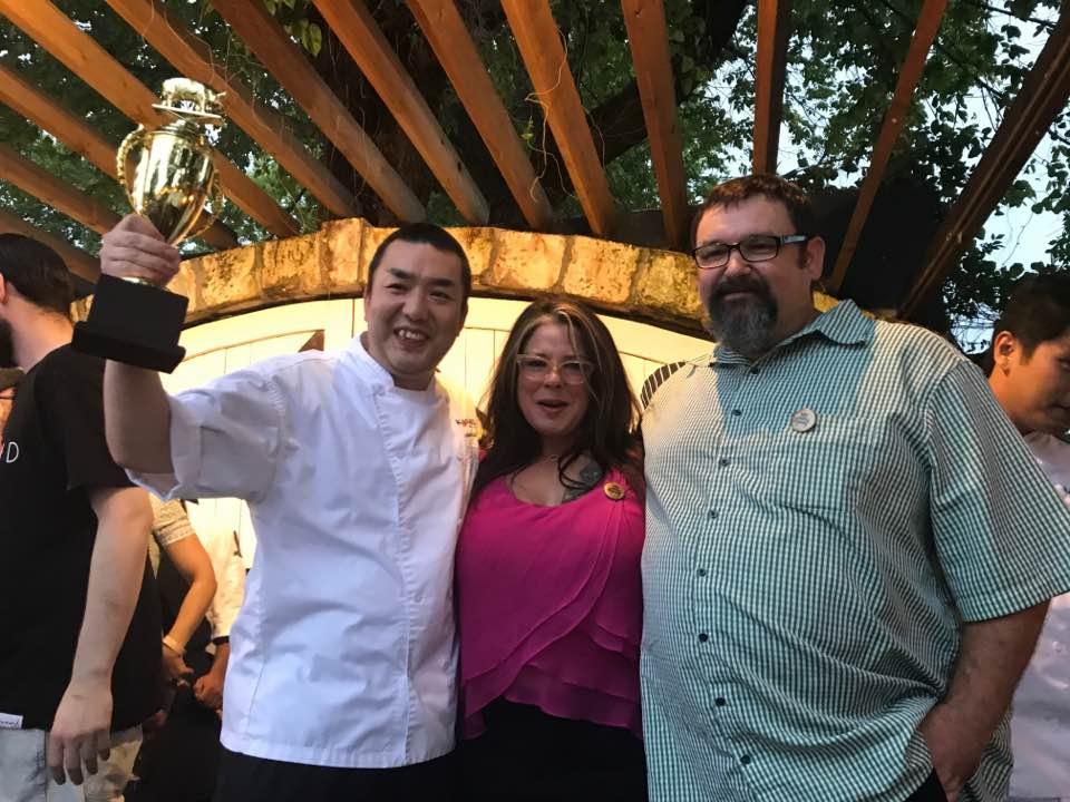 With Chef Hori of Kata Robata