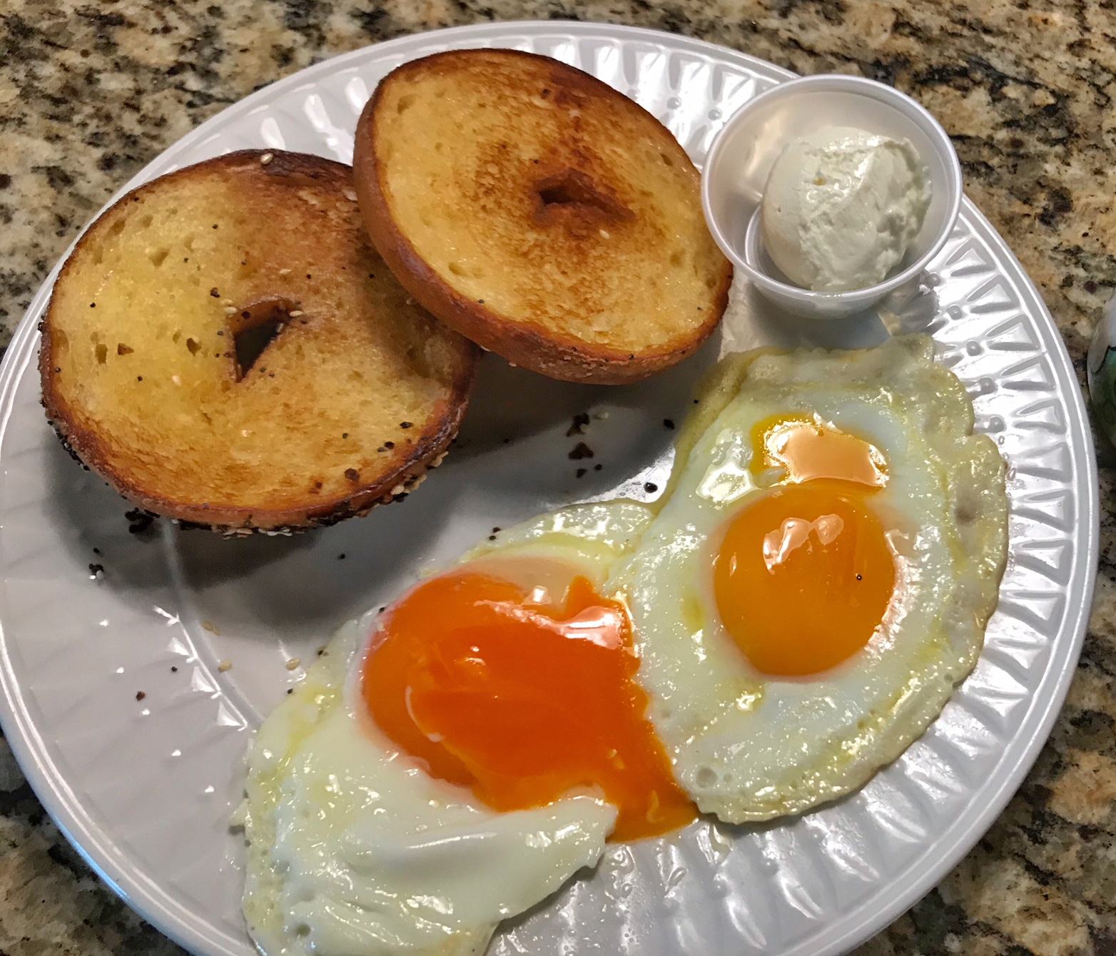 Red chile eggs and Commissary bagels.jpg