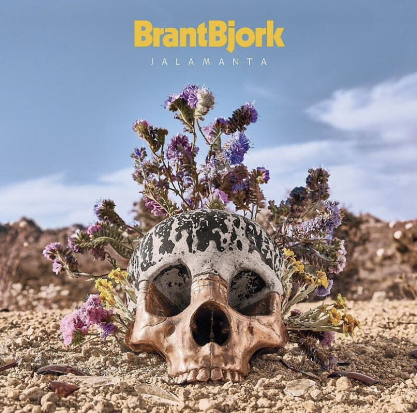 """- This is an album cover/art project I worked on for desert/stoner rock legend Brant Bjork. This was for the 20 year anniversary reissue/remix of his first solo record, """"Jalamanta"""". We basically spent a weekend in the high desert near Joshua Tree reimagining the original album art from 20 years ago.I actually made the skull while working at a bronze foundry back in Baltimore. The top of the skull is cast in dyed alabaster, and the bottom section is cast in solid bronze.I've loved this record since the day I bought it two decades ago, and I am truly honored to have been part of this project."""