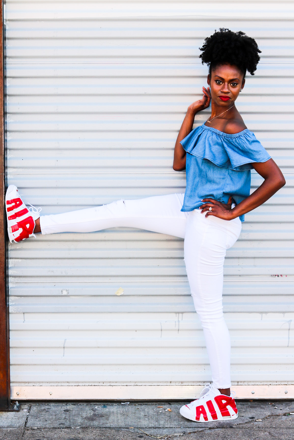 how to make sneakers feminine and chic