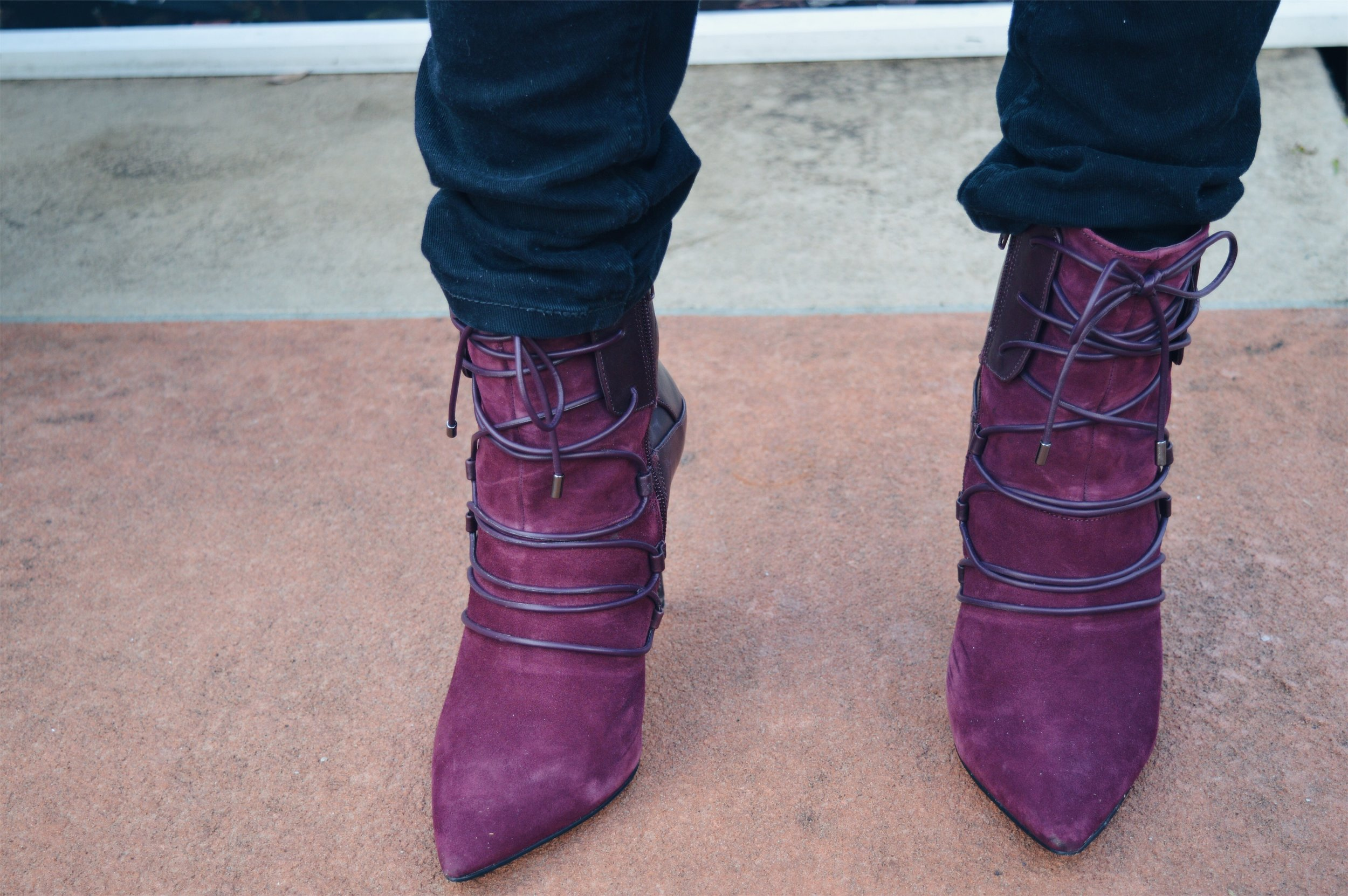 wine oxblood booties heels nine west