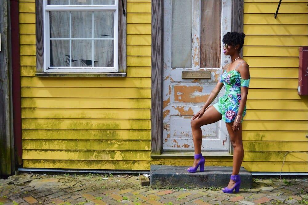 dance and marvel matching floral set nine west purple platform heel essence fest