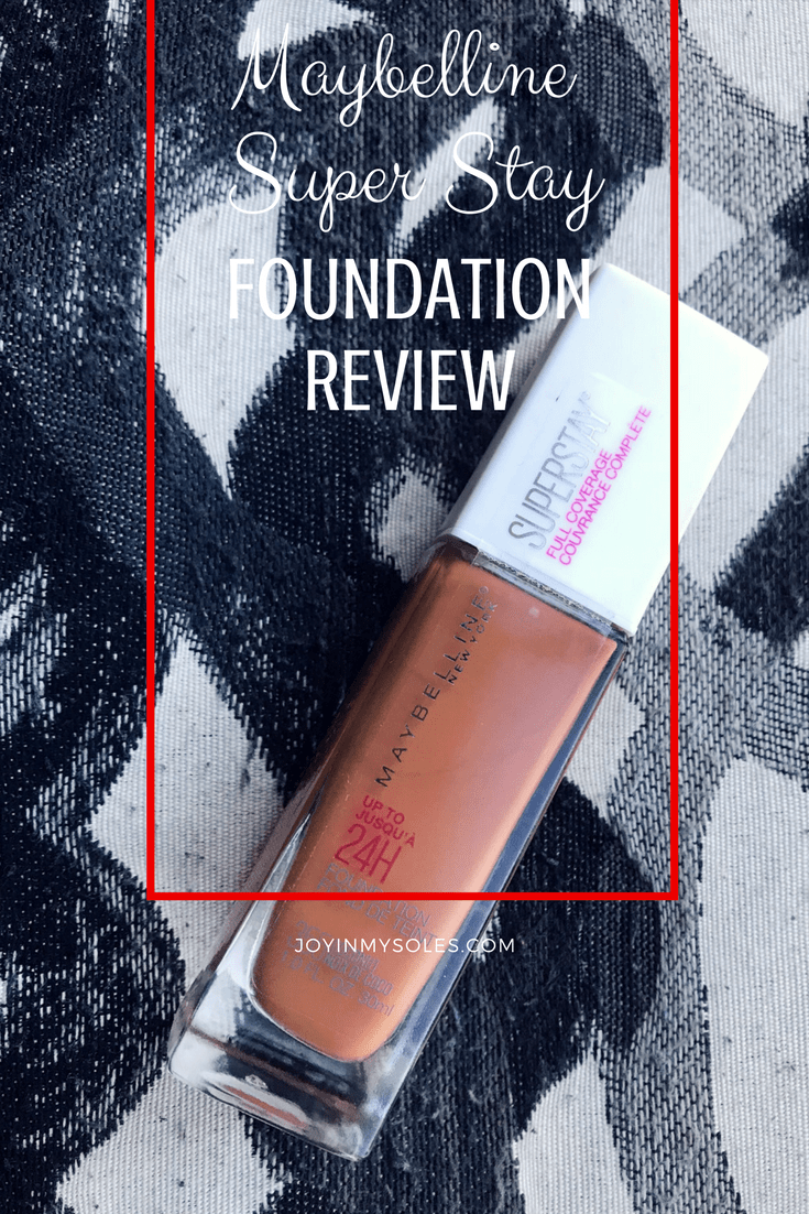 maybelline super stay foundation review