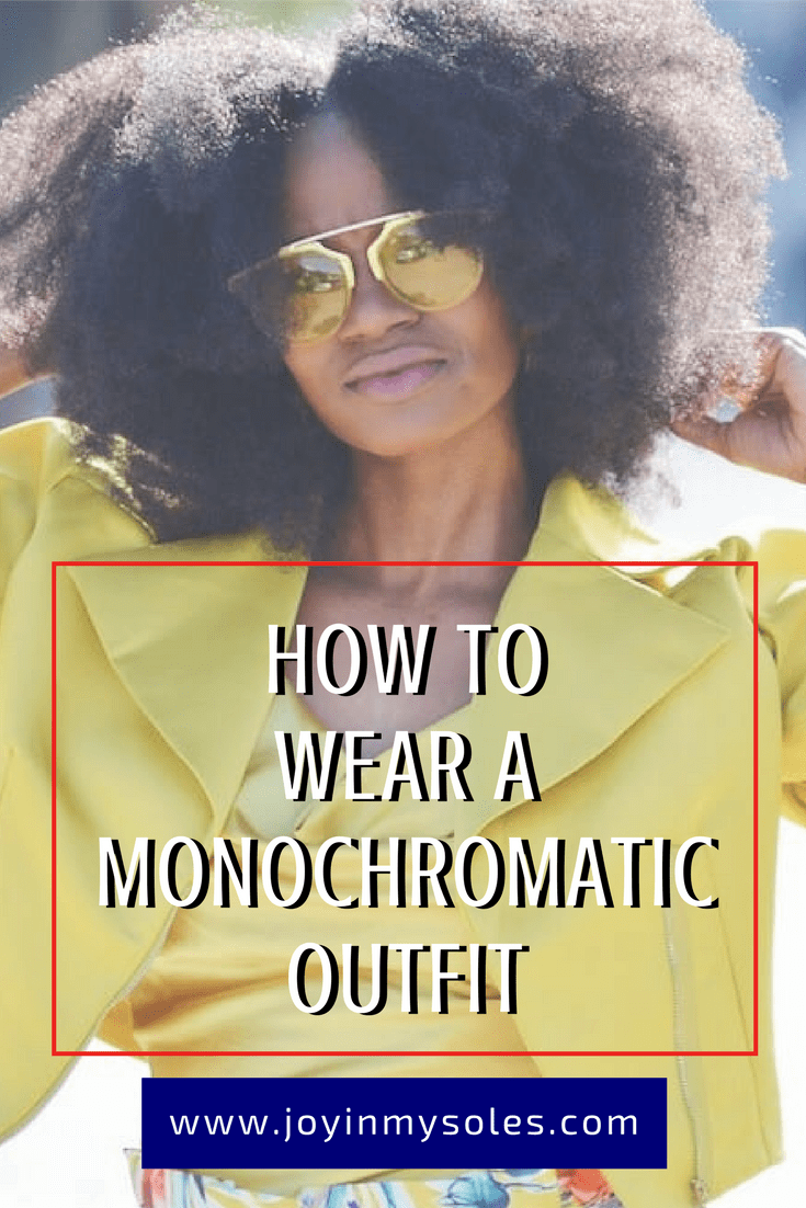 how to wear a monochromatic outfit