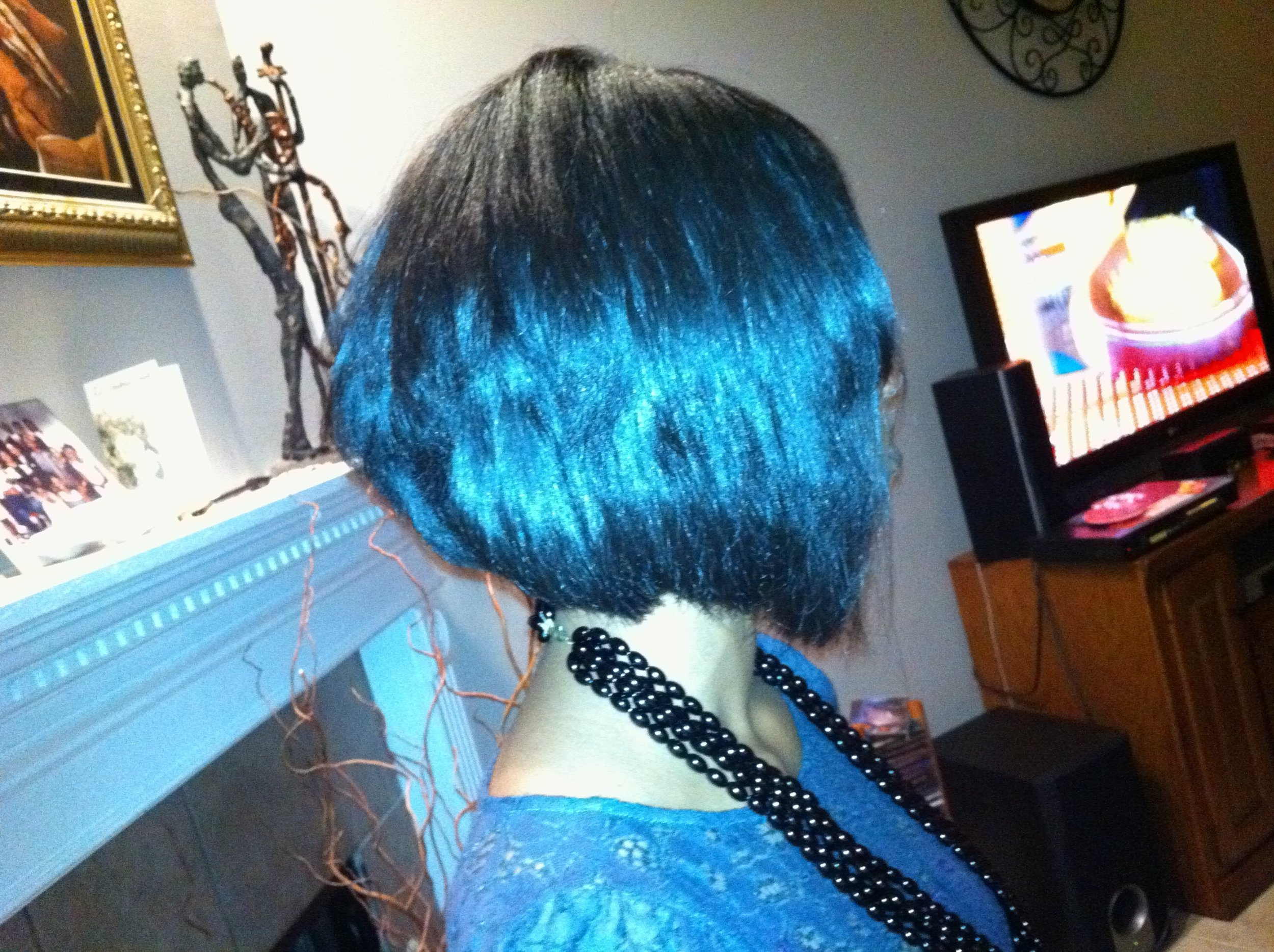 2011, I decided I needed a change with my hair so I had it cut into a bob that grew out quickly.