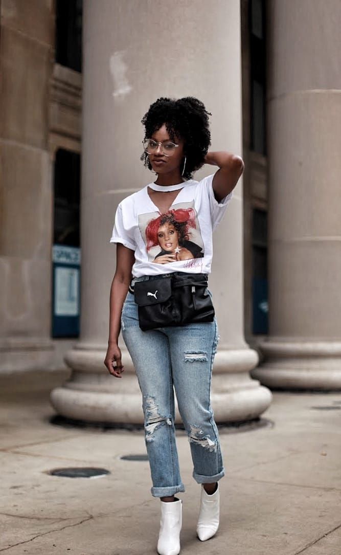 puma fanny pack rue 21 whitney houston graphic tee high waisted denim sam edelman white boots