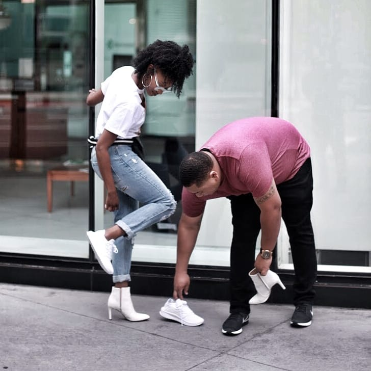 puma tsugi outfit black love married life husband and wife