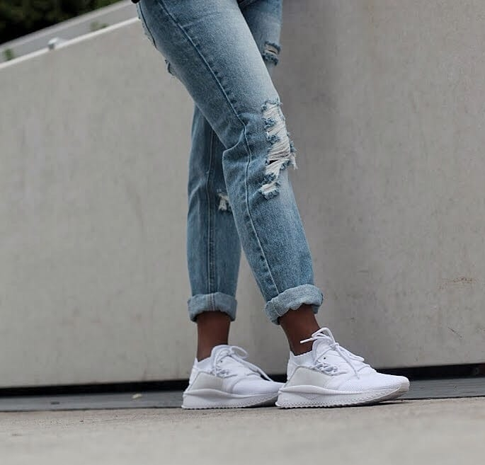 puma tsugi sneakers in white current fashion faves