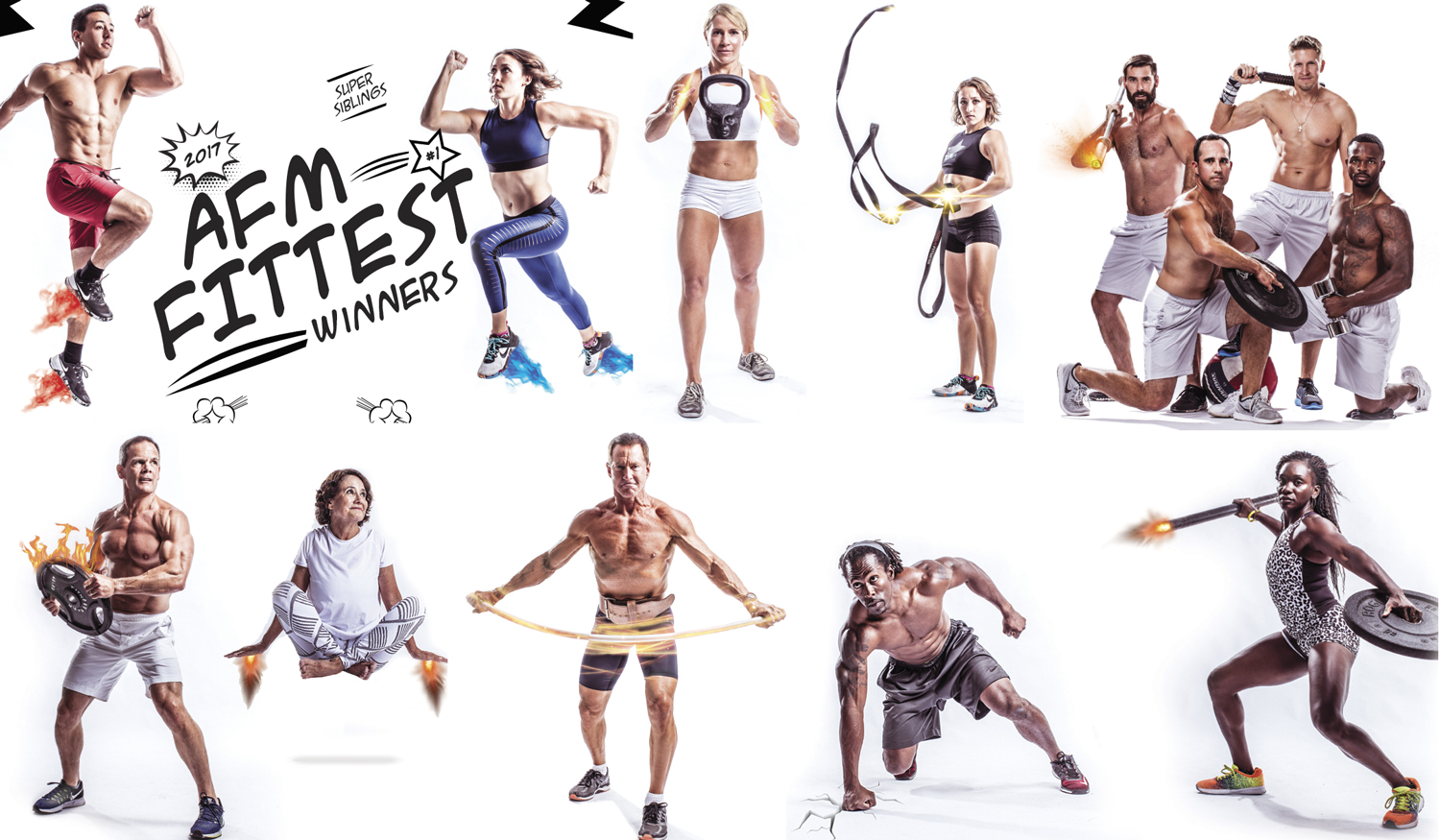 Some of the athletes we photographed.