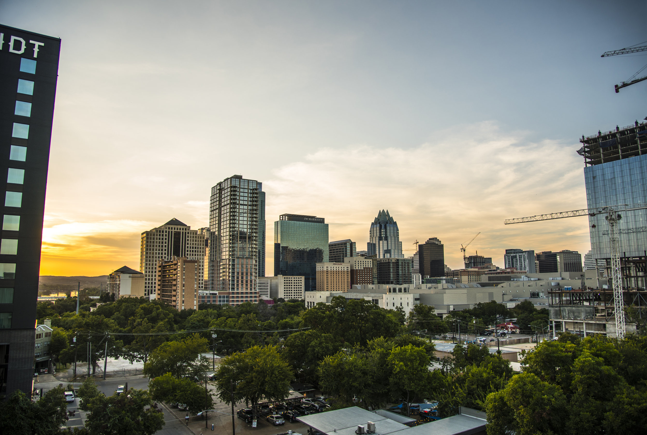 Austin Sunset Skyline Downtown by Weston Carls.jpg