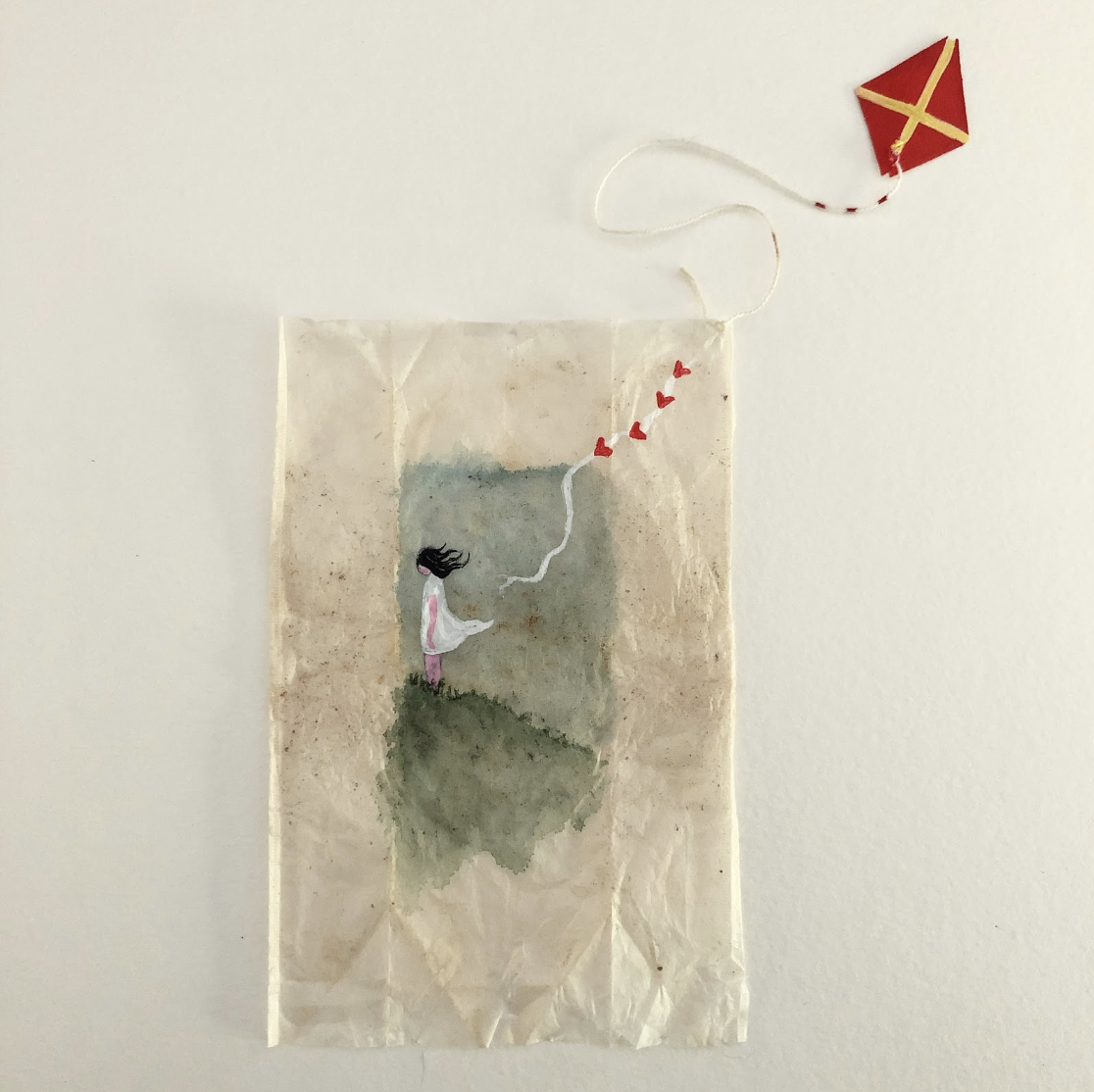 AJ's Teabag Paintings - The beginning of the journey.