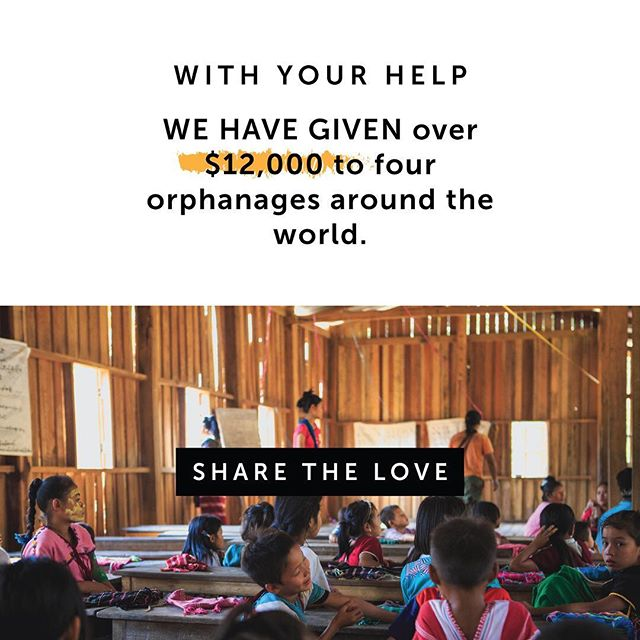 We're absolutely undone and honored by your generosity over the years. Through your gifts we have been able to give over $12,000 to four orphanages around the world. You have provided winter coats, sandals, education, and more diapers and formula than you could imagine (plus a cow and a goat).⠀ -⠀ This February join our Share the Love campaign. Would you consider giving a charitable donation to Reach Orphans Worldwide instead of chocolates or flowers to your valentine? You can give at the link in profile.