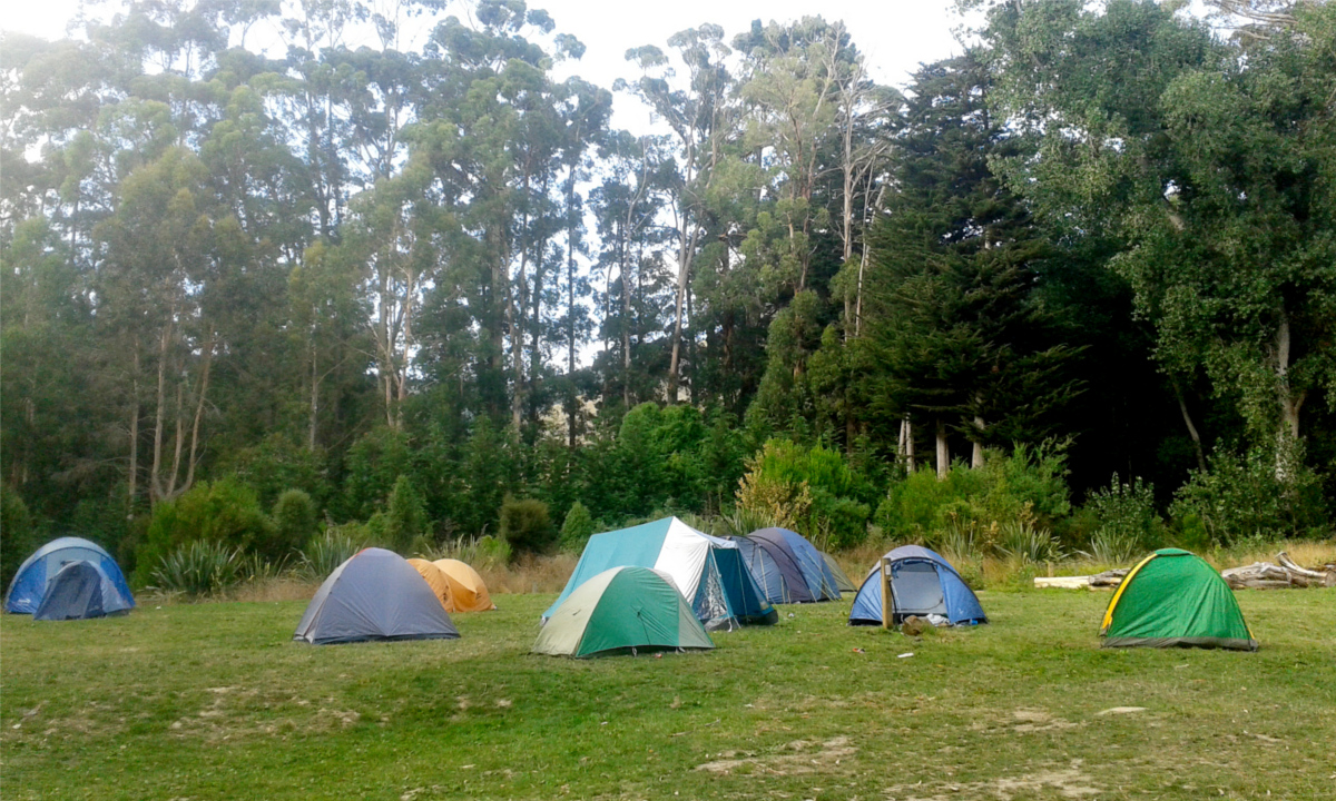 School and scout groups take advantage of the great facilities and campsites at Base Camp