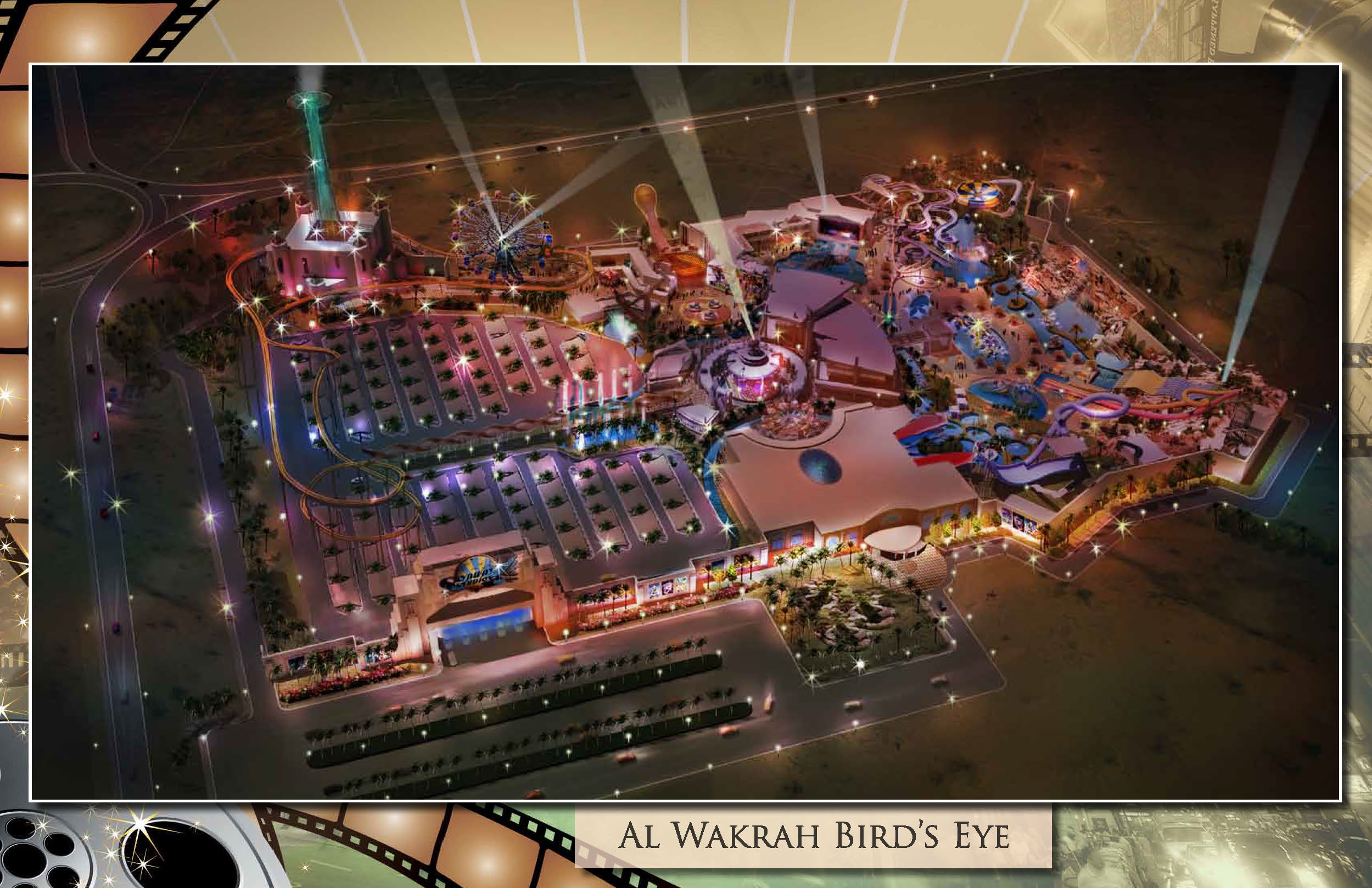 Skyaway Studios Themed Waterpark, Doha, Qatar. Master Planned in collaboration with Nextep Design, Inc.