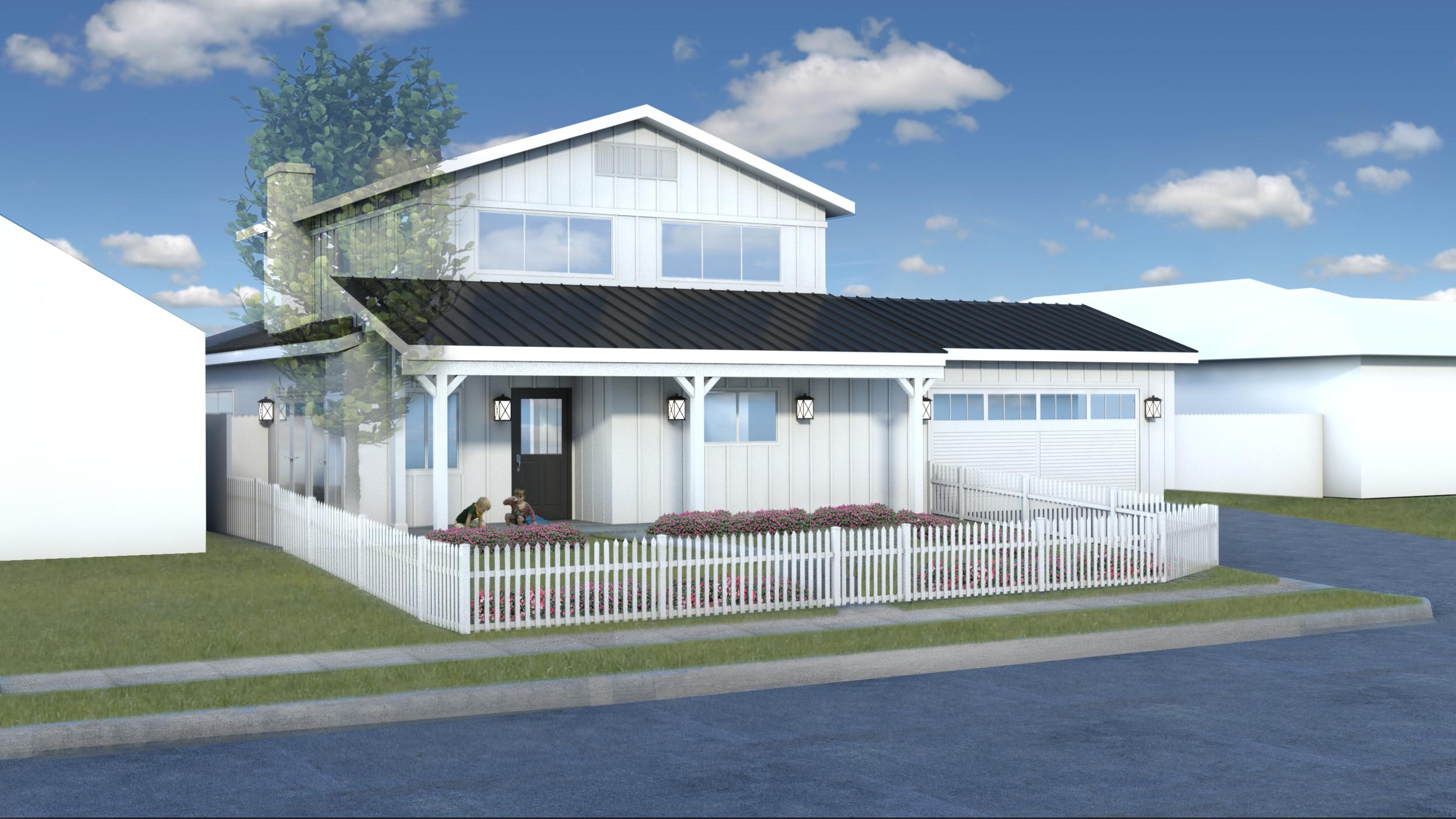 Contemporary Farmhouse Home Design, Costa Mesa, California