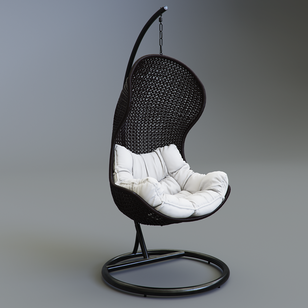 Parlay Swing Chair - We are featuring a garden swing modelled by Kirill Vill he is a very talented artist and 3D modeller. Go check him out on behance! It's for free, but it's a very high detailed model created in MarvelousDesigner.  Very useful model for your exterior visuals. Click the button below to download. Don't forget to like share and subscribe to MockupRender.
