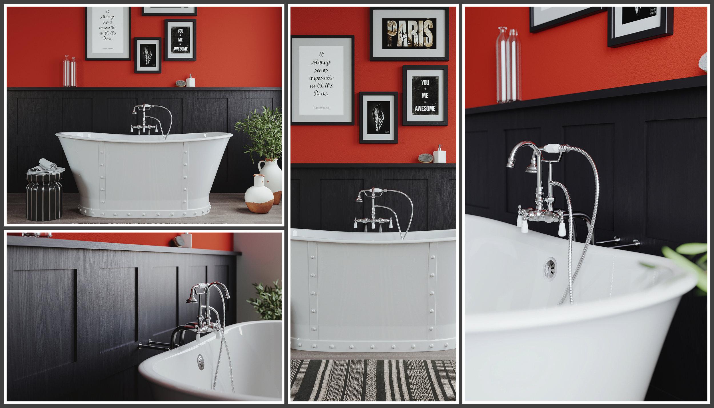 Half-Half Bathroom Cambridge Plumbing