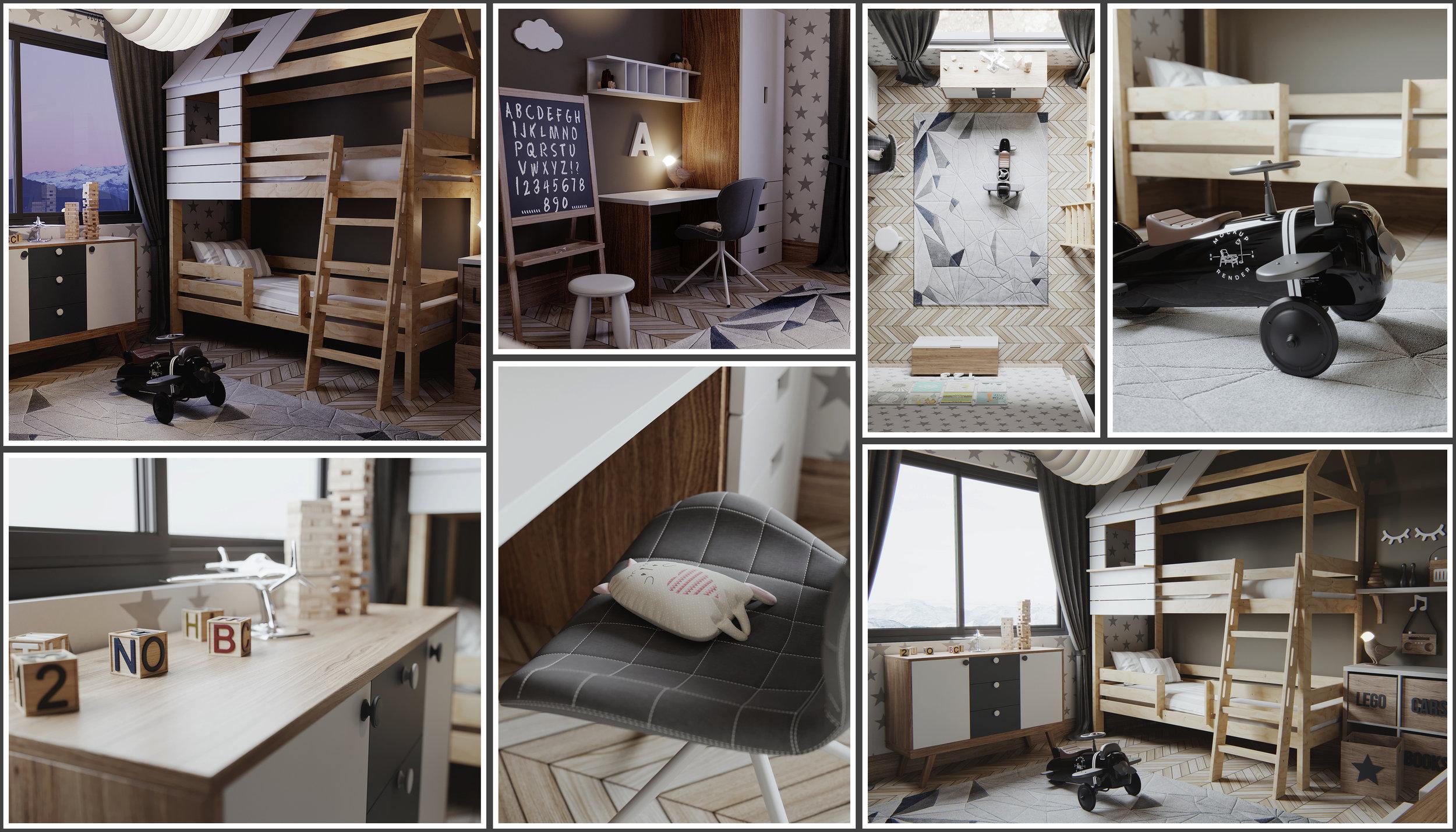 Scandinavian Kid Bedroom