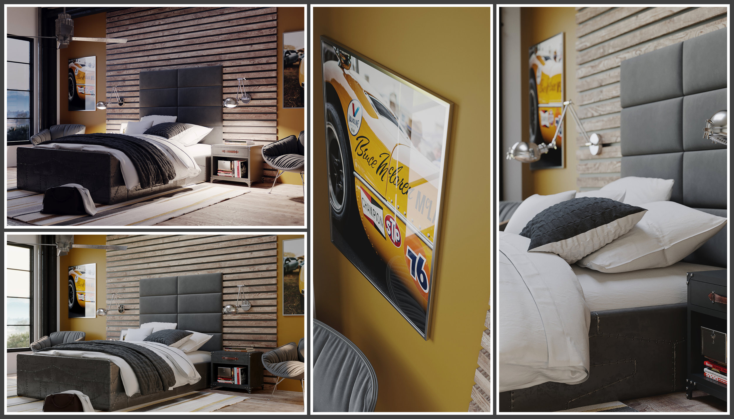 Teenage Bedroom Panels ( re-imagined )