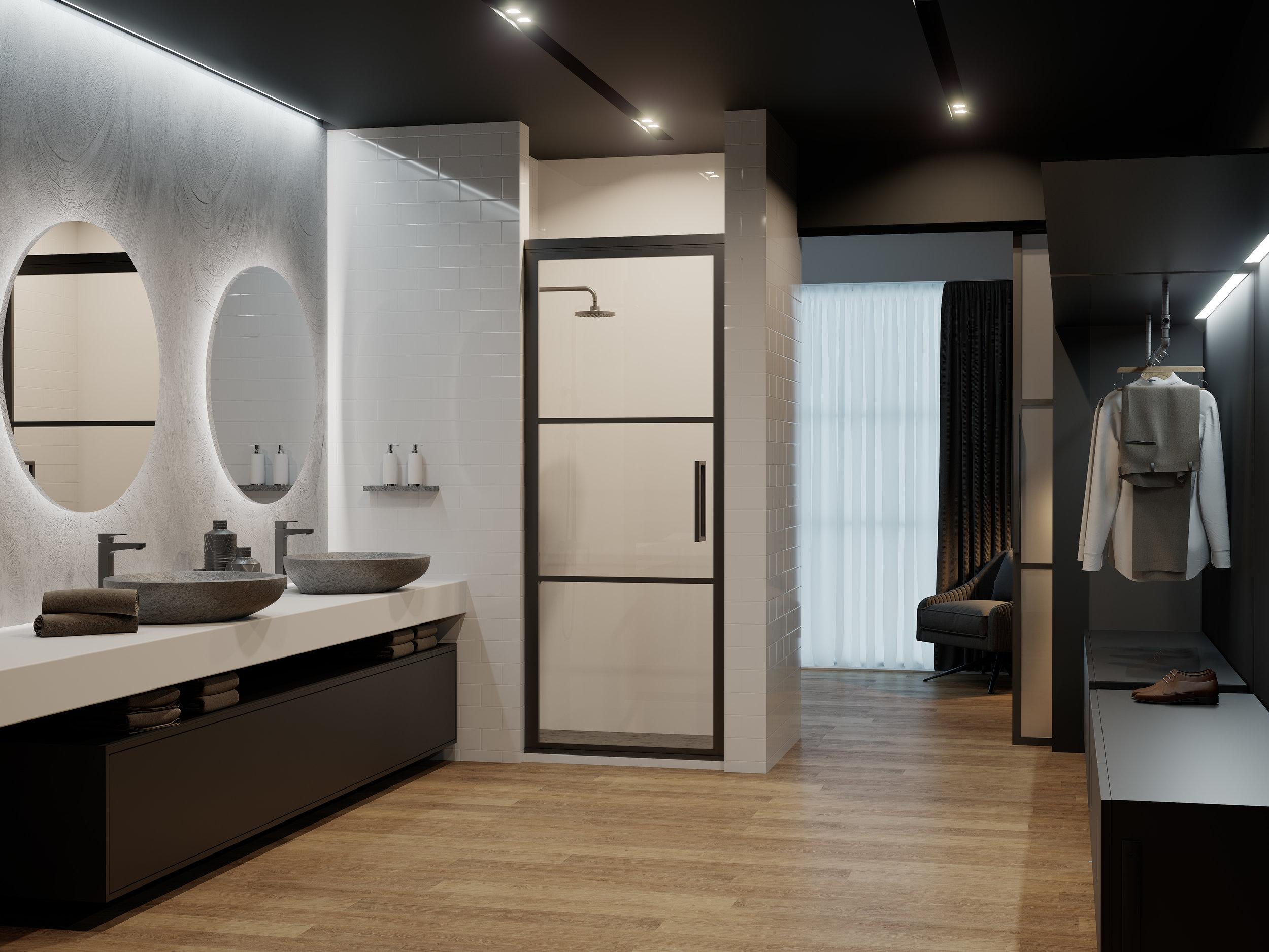 GS2 Shower Door Hotel Bedroom