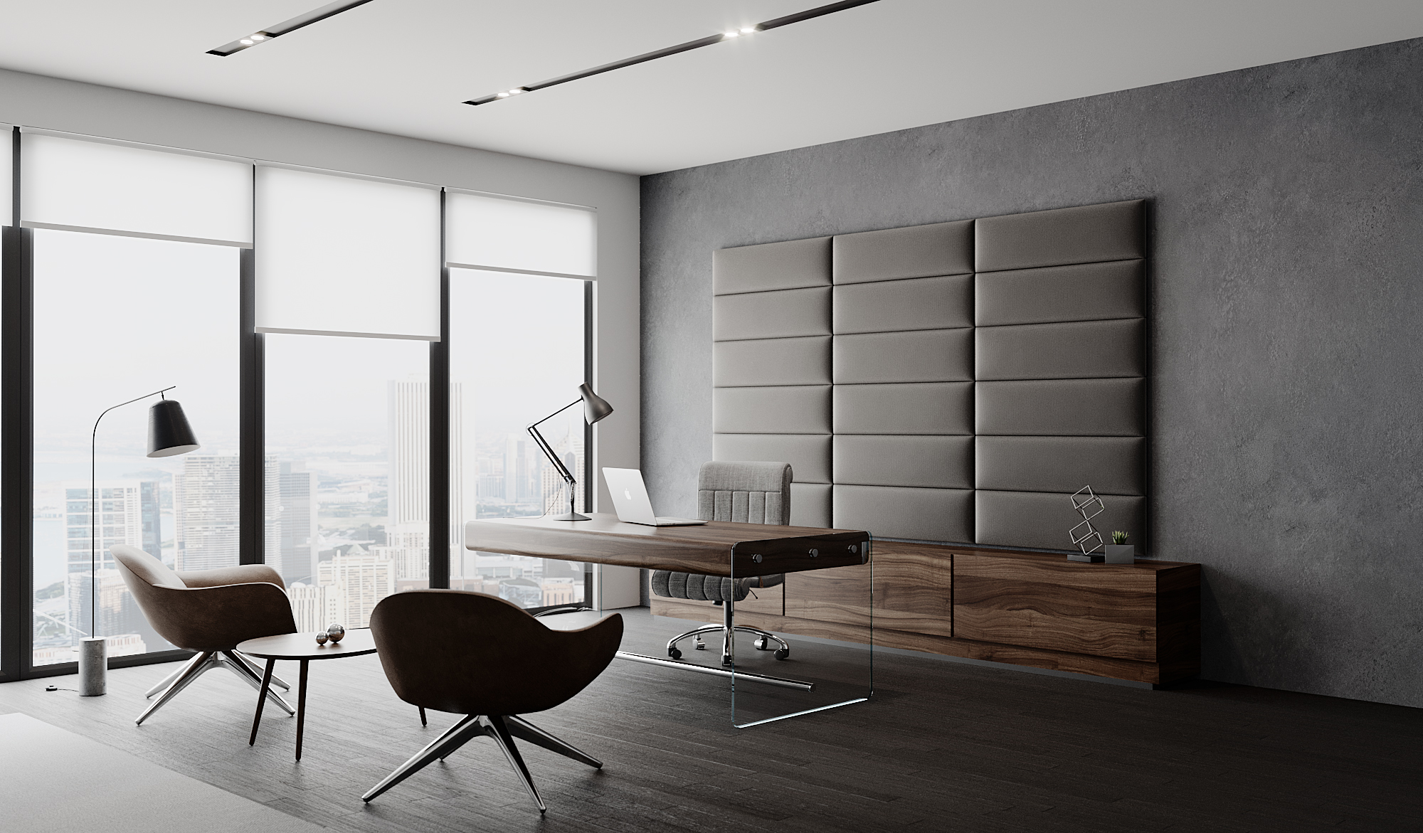 Executive Office With Wall Padding