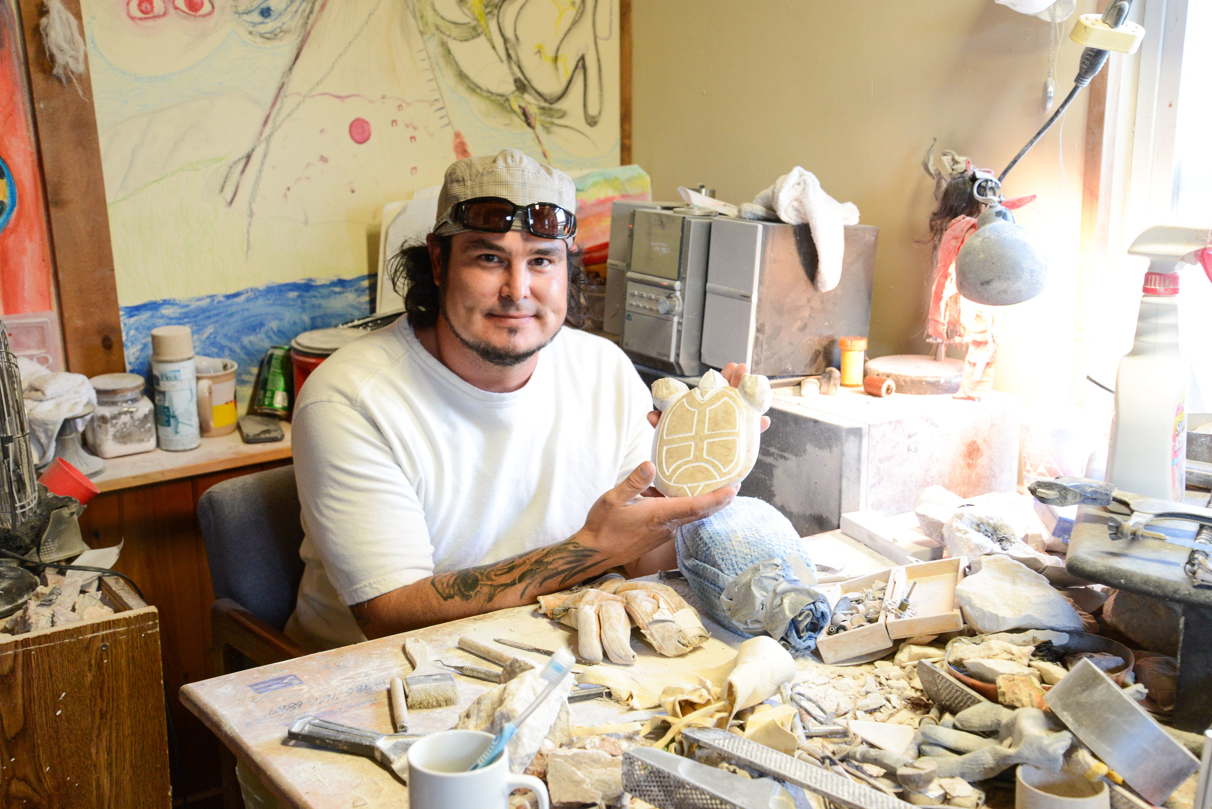Brendon Albers  (Cheyenne River Sioux), 2016 Artists in Business Leadership Fellow and 2016 Cultural Capital Fellow. Photo courtesy of Northwest Area Foundation