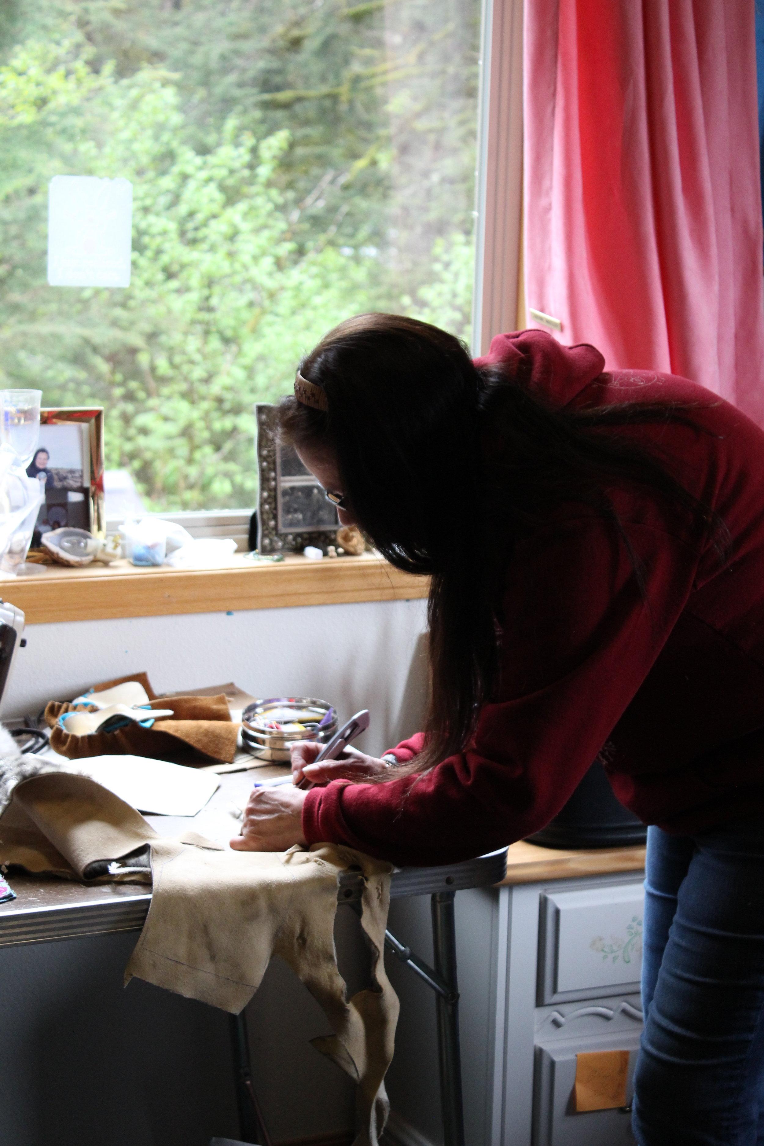 Jennie Creating Moccasins