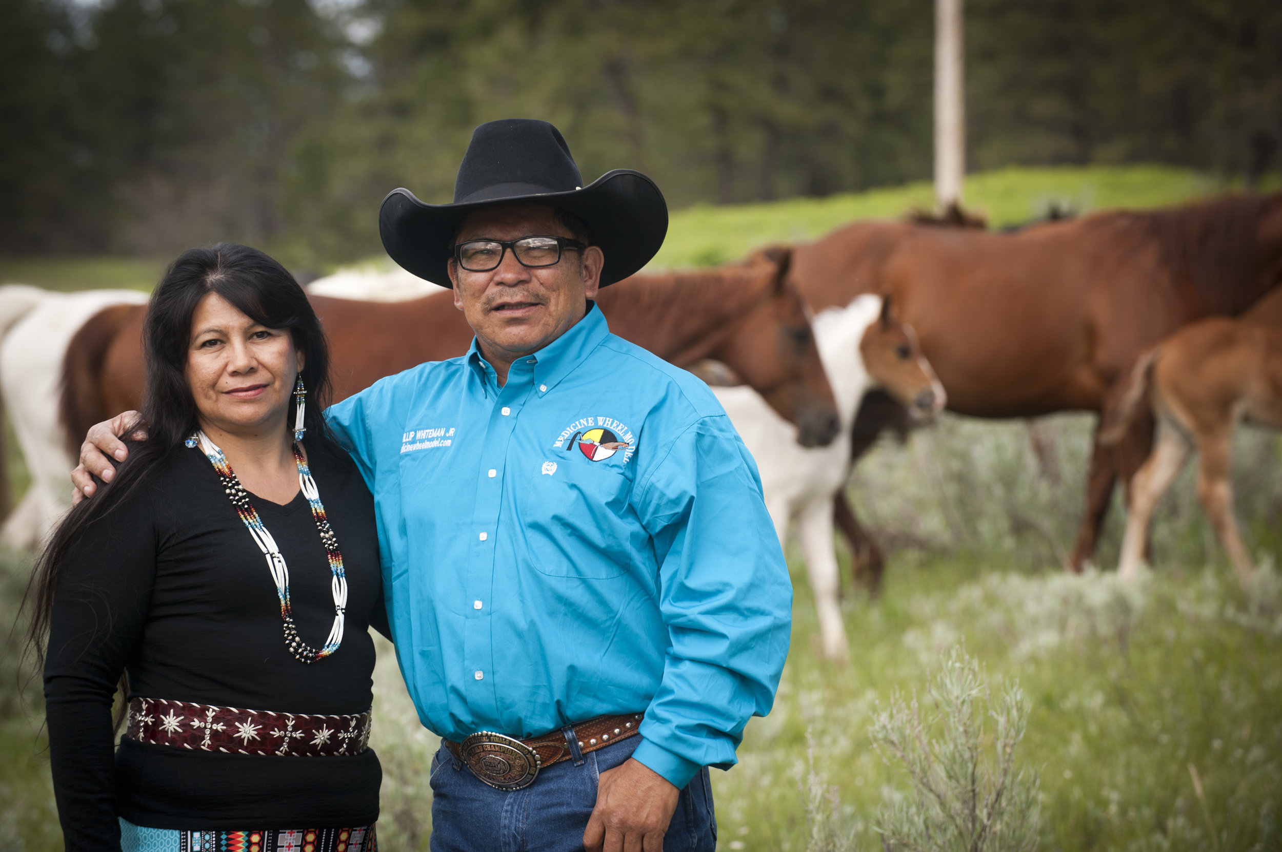 Phillip Whiteman Jr and Lynette Two Bulls
