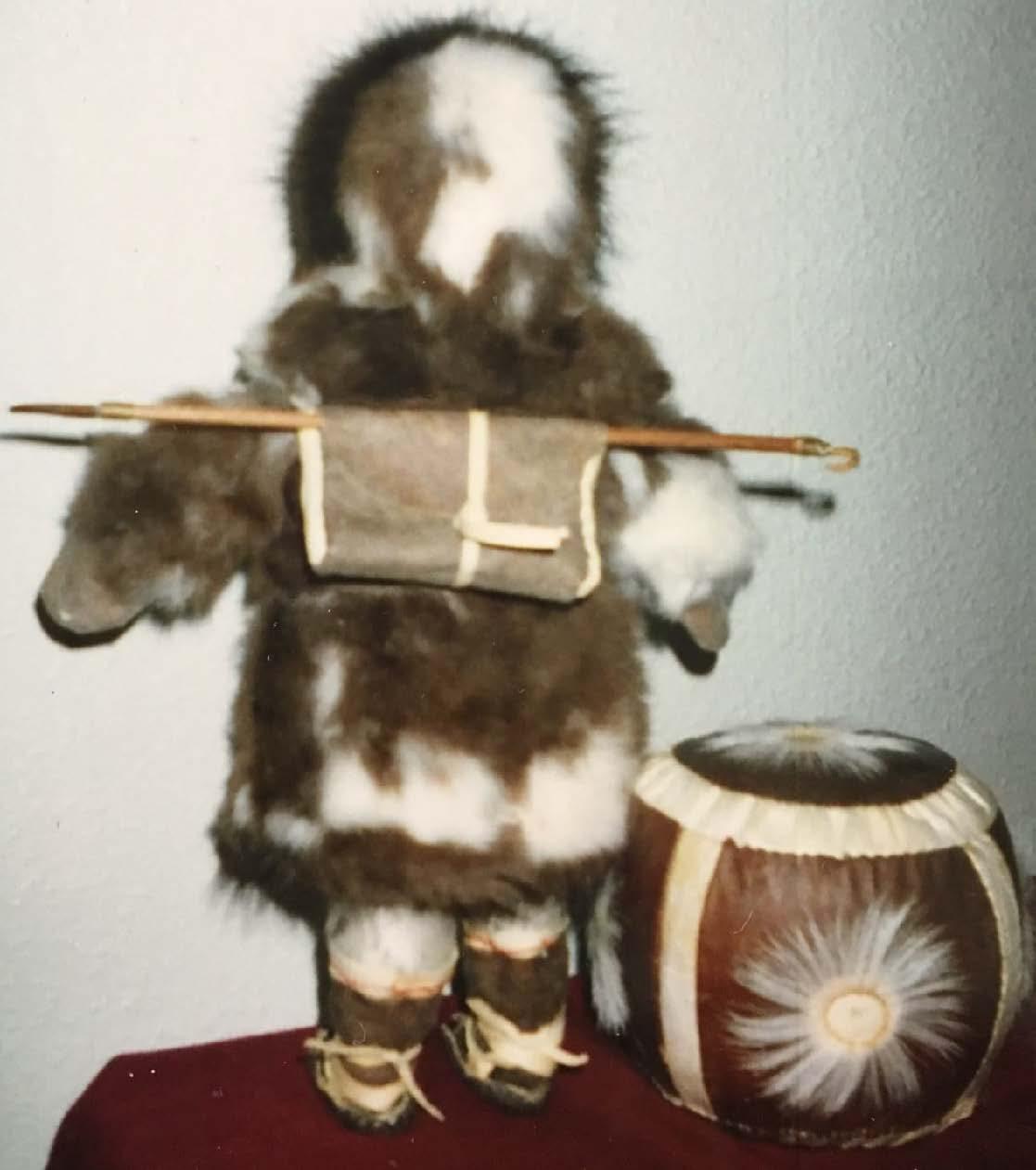 St. Lawrence Island Hunter Doll (back)