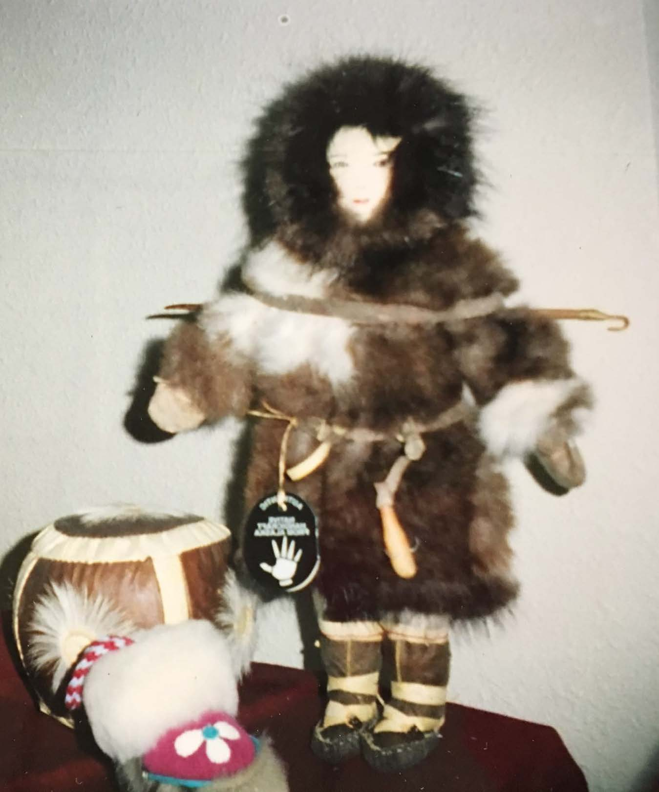 St. Lawrence Island Hunter Doll (Front)