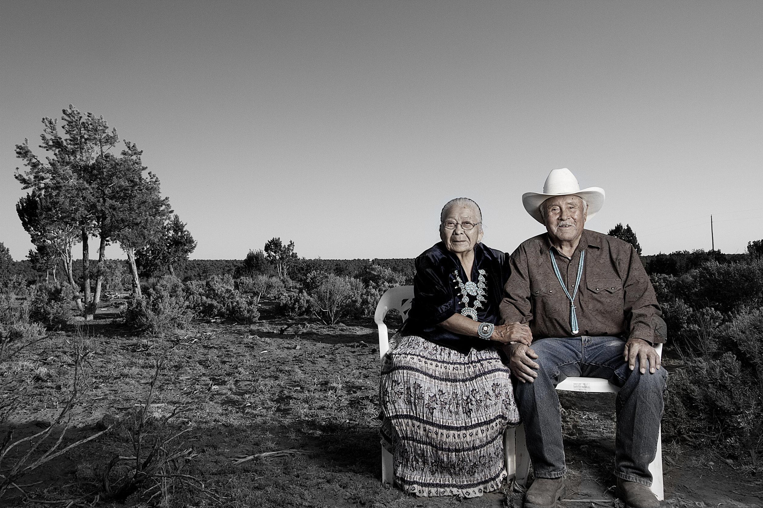 Robert and Fannie Mitchell, Navajo