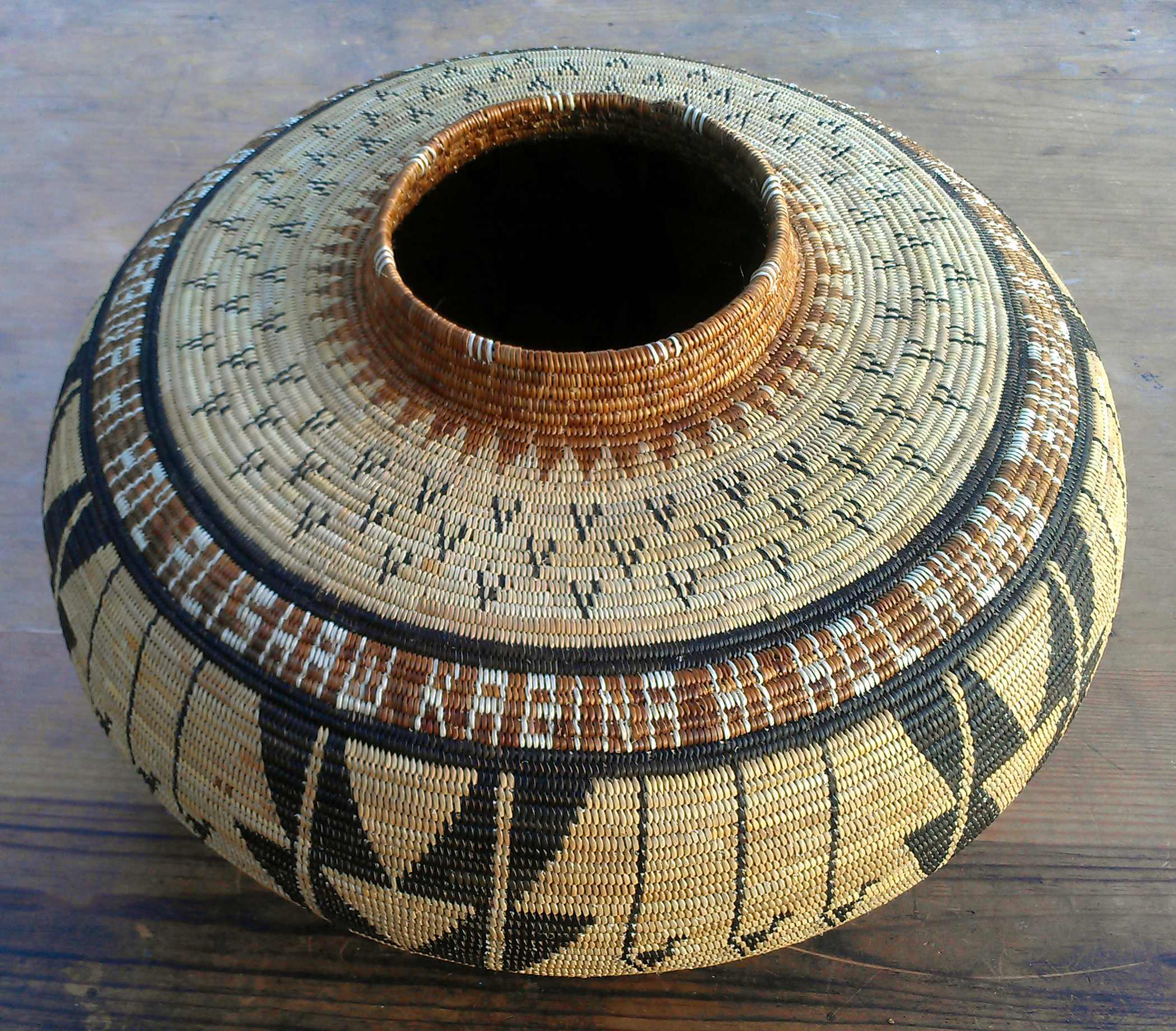 Chumash Basket for Storage of Ceremonial Plants by Timara Lotah Link.
