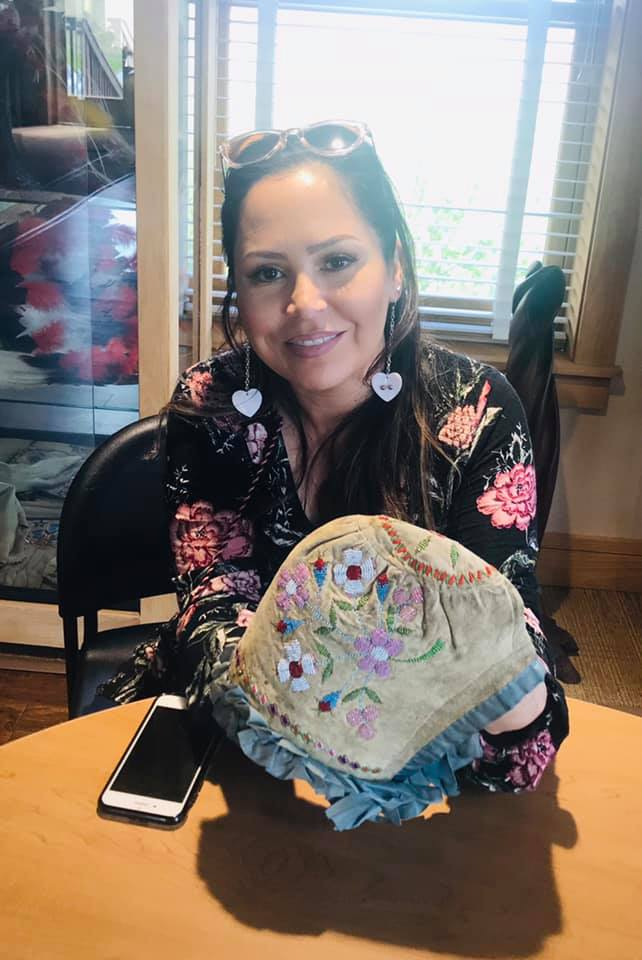 Holly Young (Standing Rock Sioux Tribe), a local artist and instructor at Sitting Bull College.