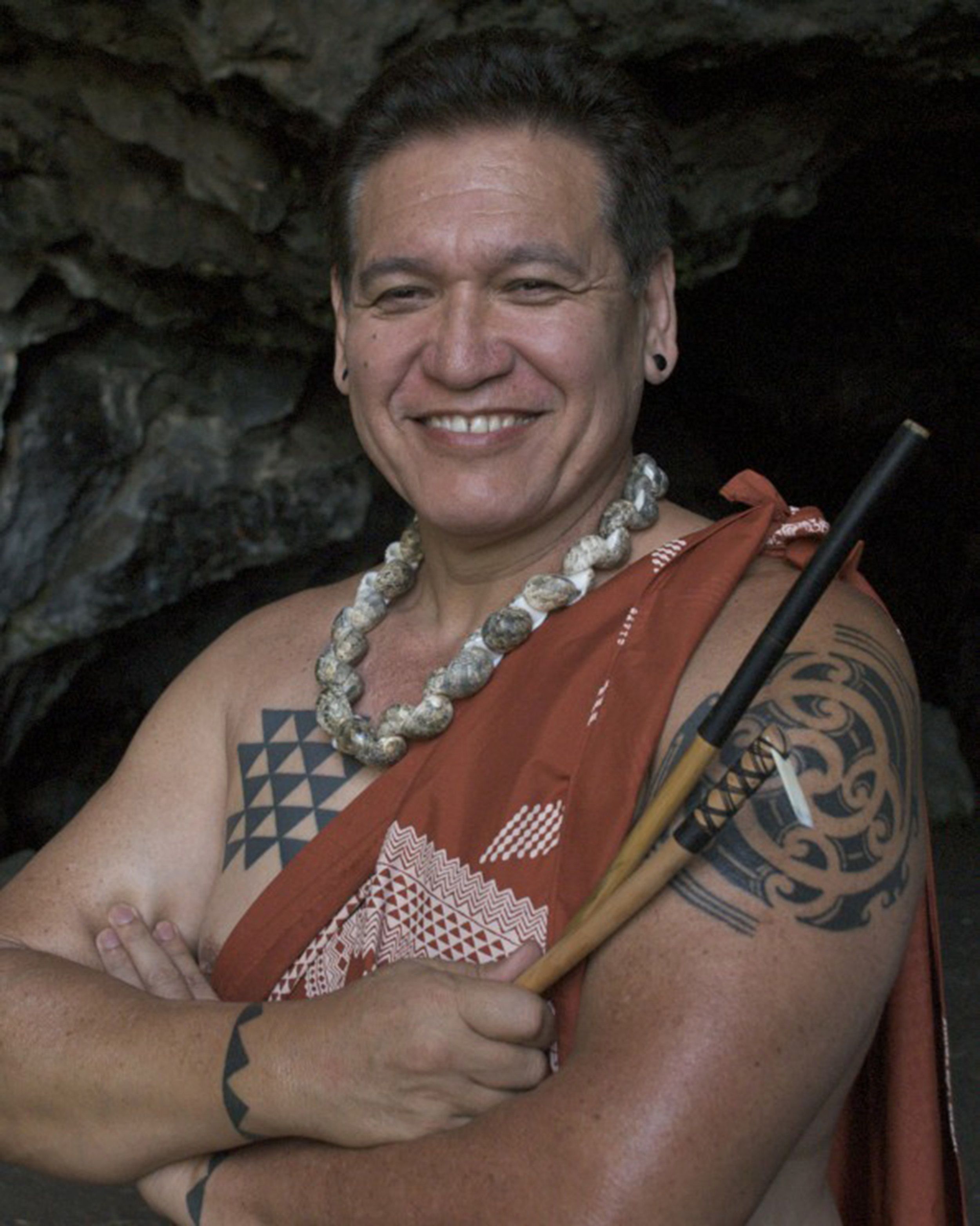 Traditional Hawaiian tattooist and 2015 Community Spirit Award Honoree, Keone Nunes (Native Hawaiian).