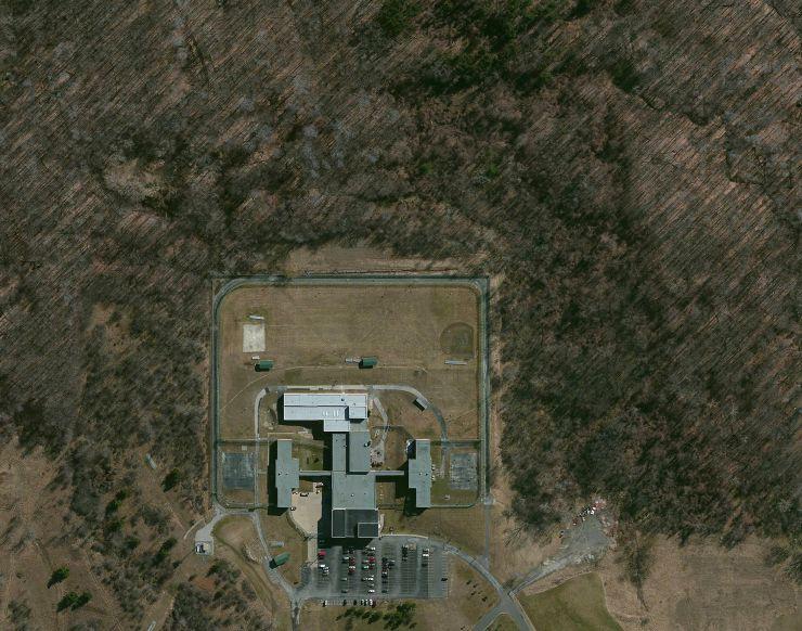Overhead image of Cuyahoga Hills Juvenile Correctional Facility, Highland Hills, Ohio