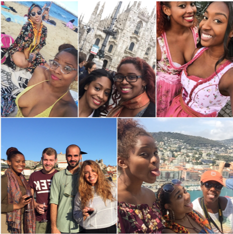 Visits abroad with friends and family