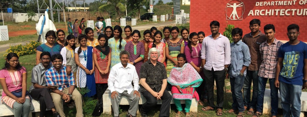 Terry with the Architecture School at Andhra University, India