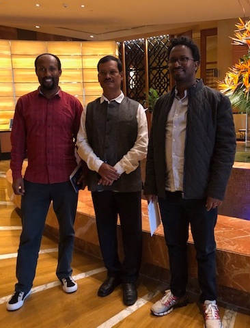 WEEMA Program Manager, Ashenafi Tadesse, and Country Director, Tewodros Belachew, after meeting with the Padman