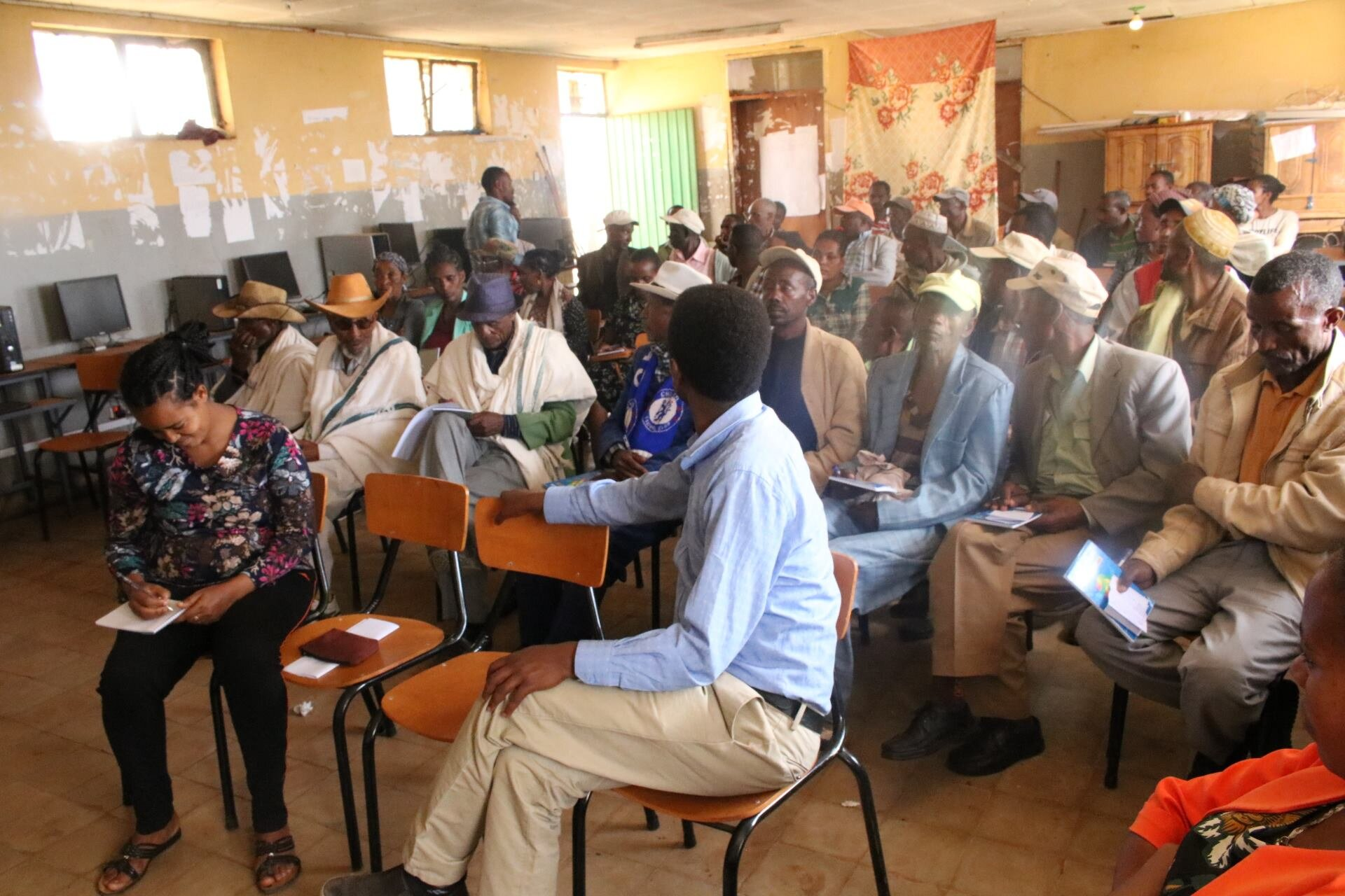 In planning for the inclusive education program at Mudula Primary School, WEEMA's Education Program Manager, Assefa Tadesse, facilitated training and awareness raising sessions with community stakeholders. Participants included representatives of faith-based organizations, the parent teacher association, influential elders, Idir leaders, and disability union kebele leaders.