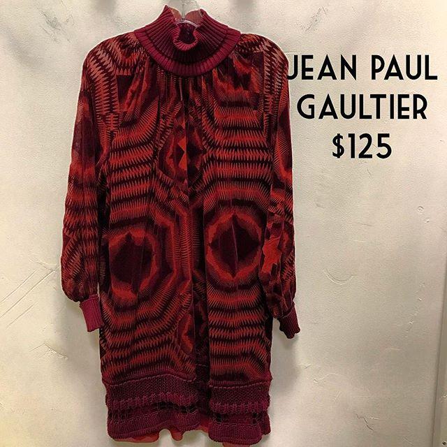 Jean Paul Gaultier Dress $125 #consignment #chicenvy #fairfaxcorner #jeanpaulgaultier #forsale #dressforsale #fashionista
