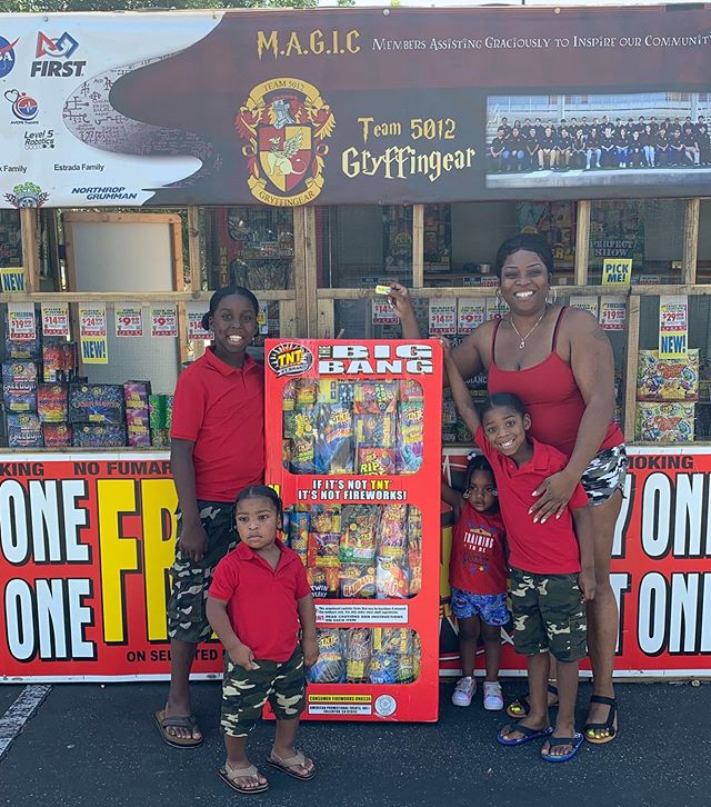 We'd just like to thank everyone who supported us by purchasing fireworks at our booth this past week, and we'd also like to congratulate the Hawkins family, this year's winner of The Big Bang!!