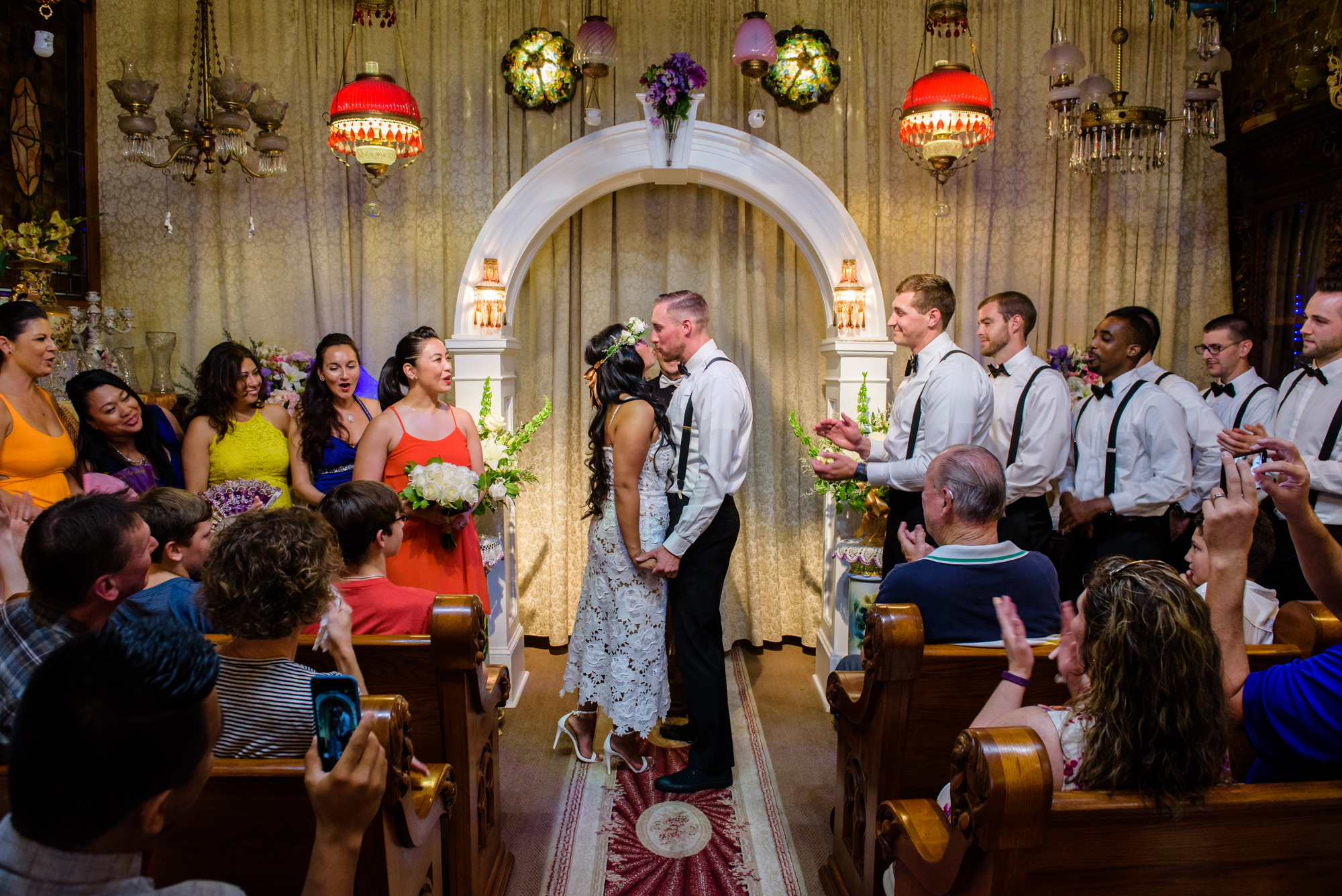 French Quarter wedding sealed with a kiss.
