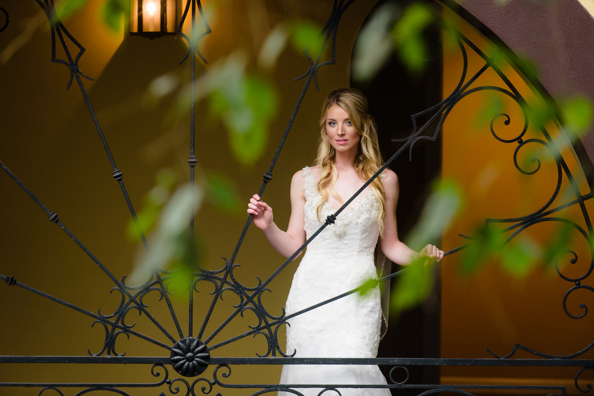 Bridal portrait shoot at Hotel Mazarin in the French Quarter, New Orleans