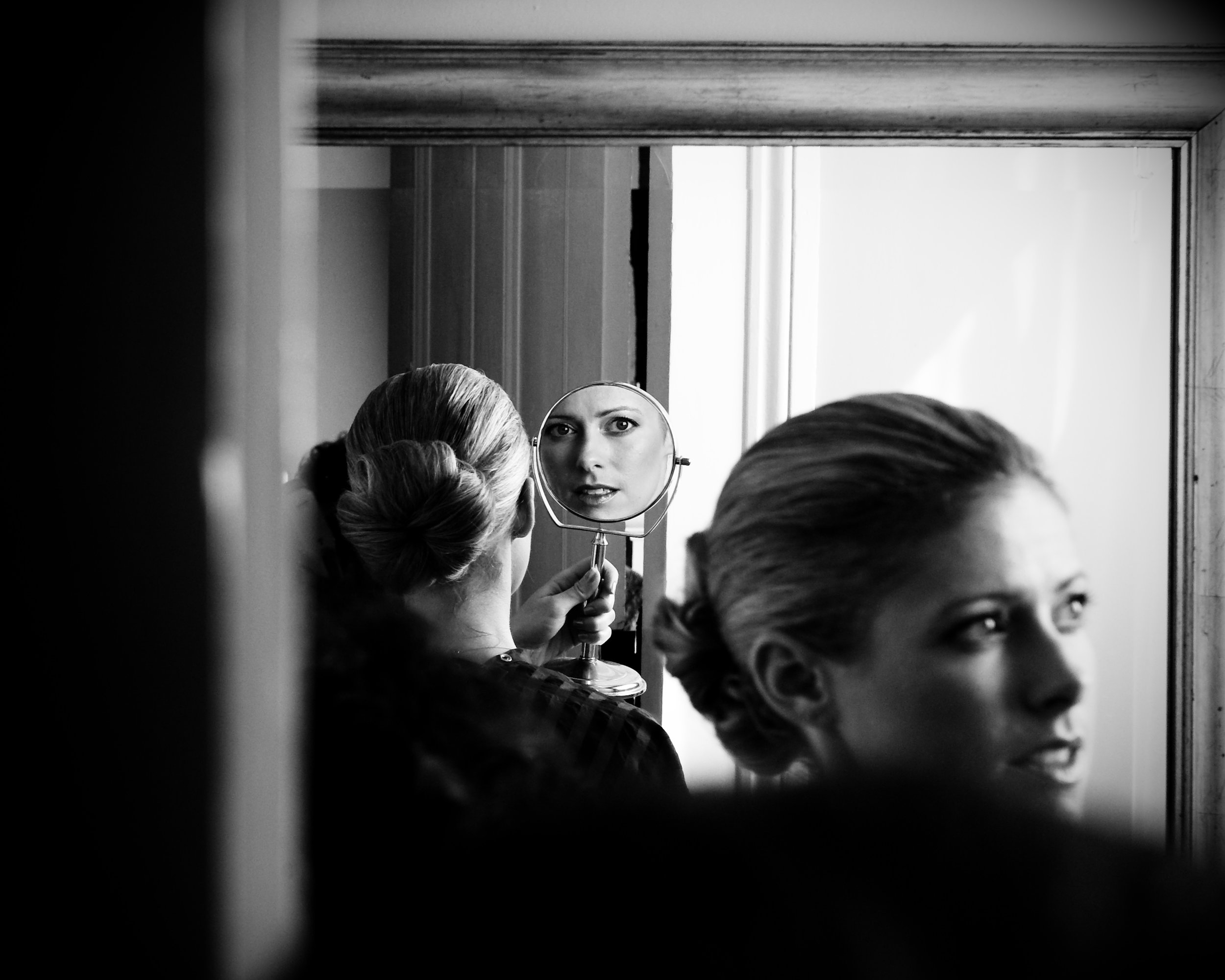 A bride prepares for her wedding, New Orleans