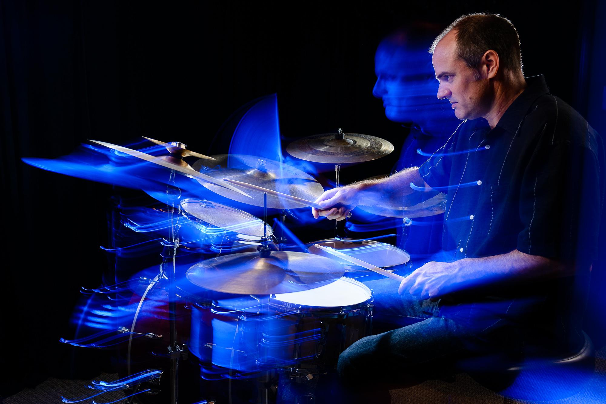 New Orleans drummer Wayne Maureau, photographed by Scott Myers