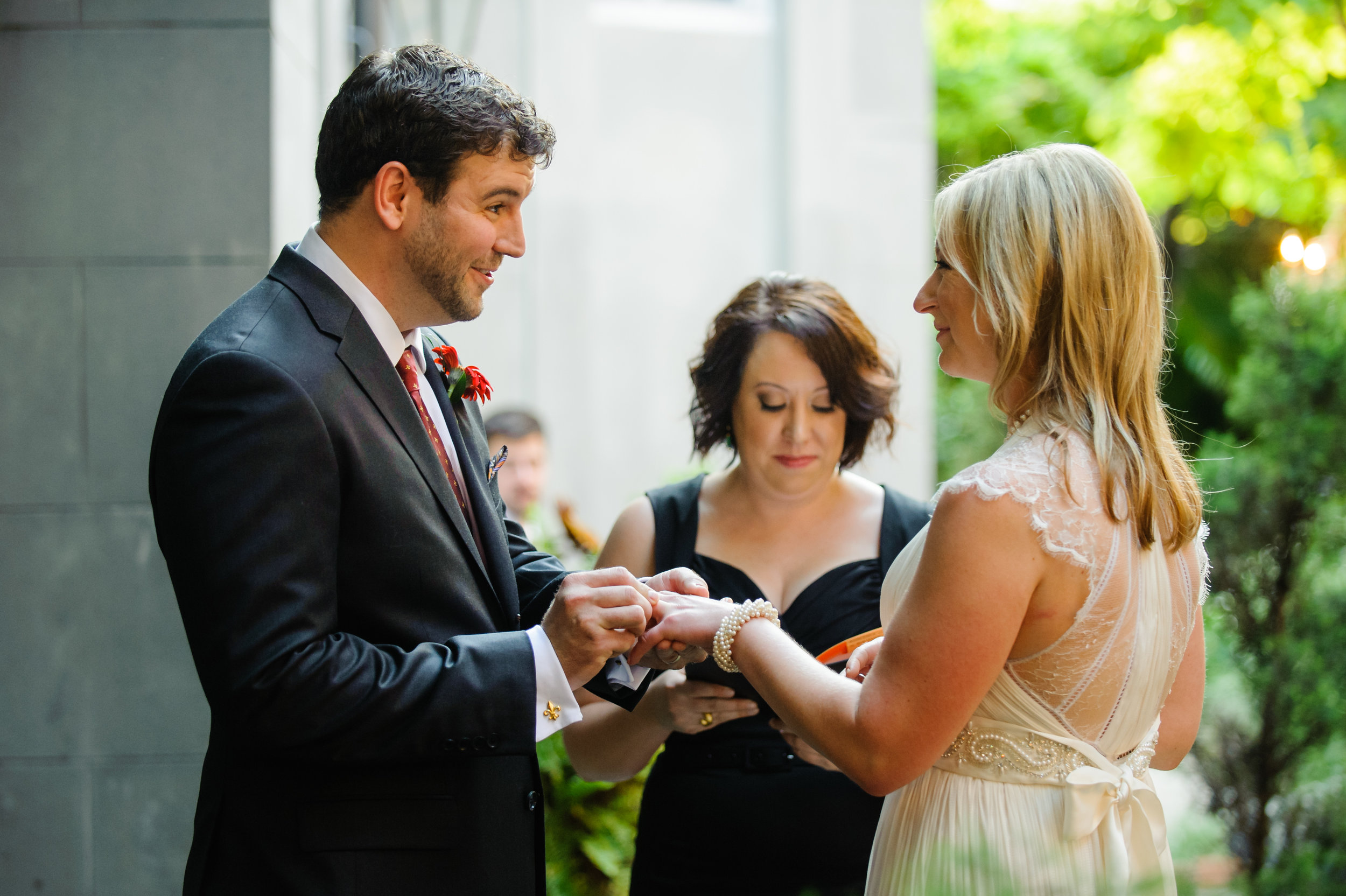 Courtyard wedding at Cafe Amelie, New Orleans