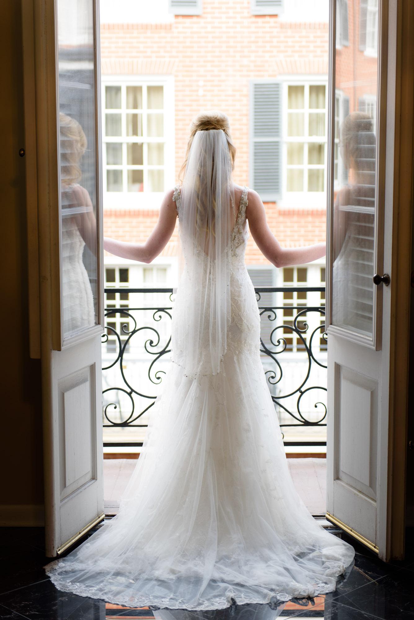 Window portrait at New Orleans' Hotel Mazarin