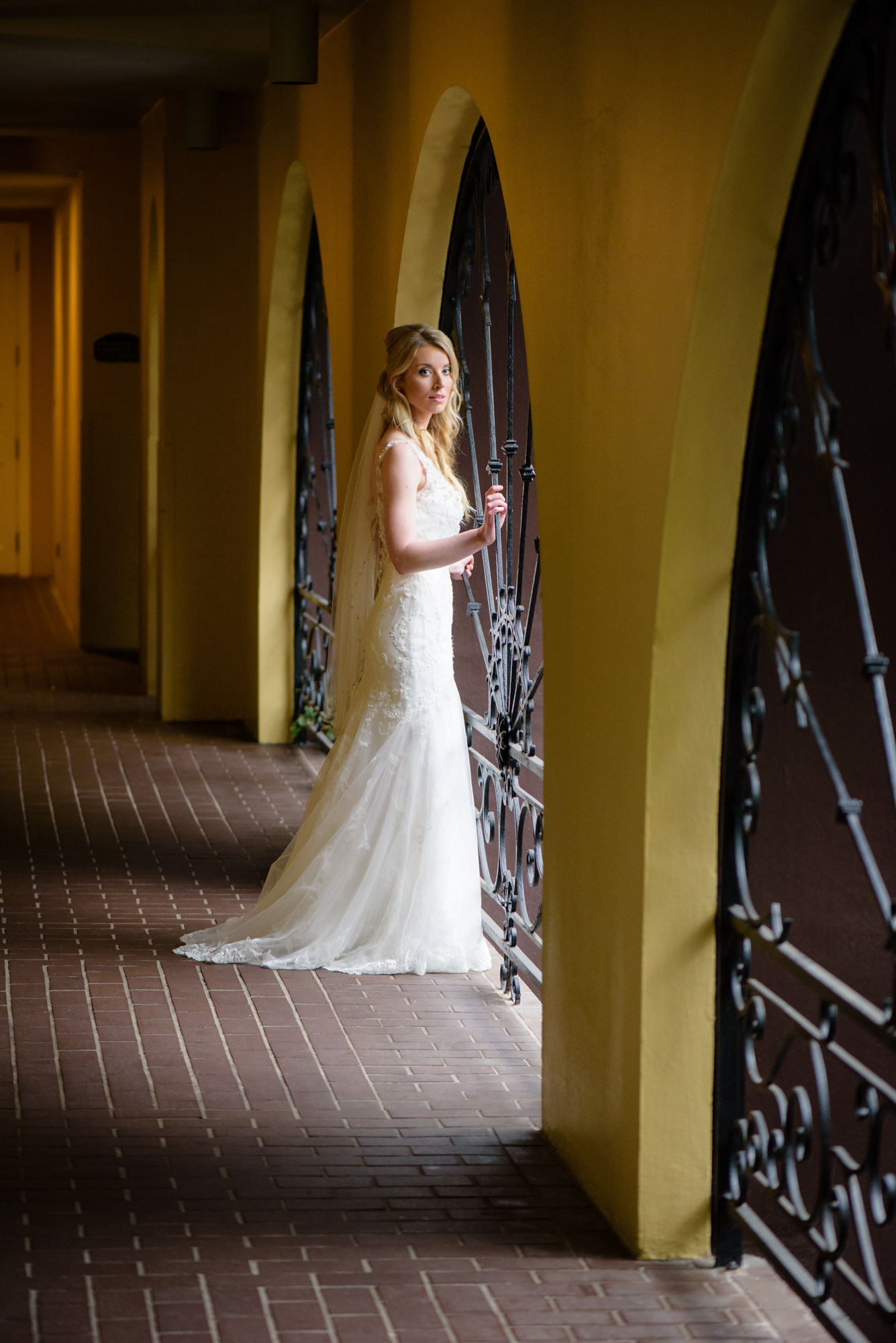 Natural light portrait at New Orleans' Hotel Mazarin