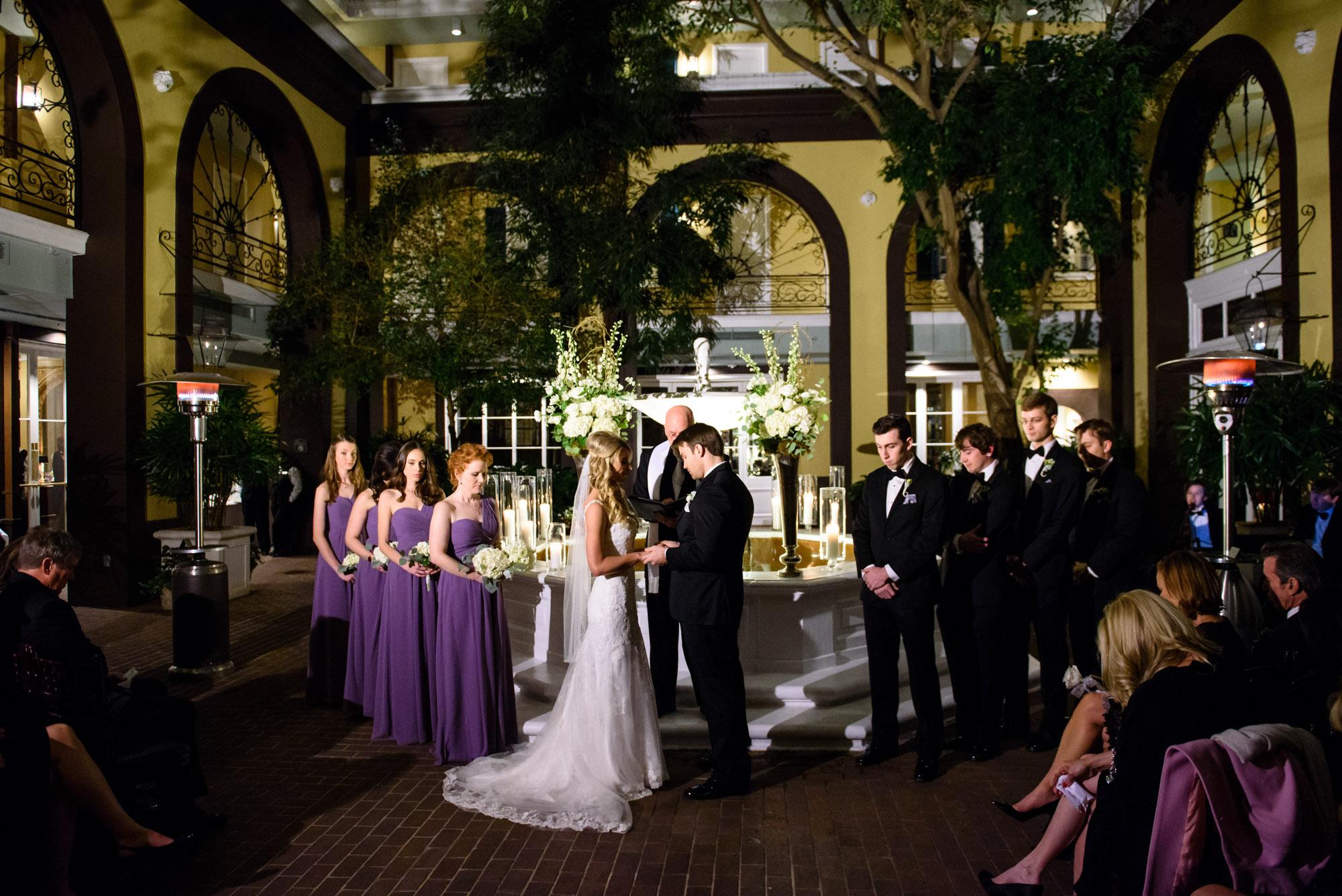 Wedding ceremony at New Orleans' Hotel Mazarin