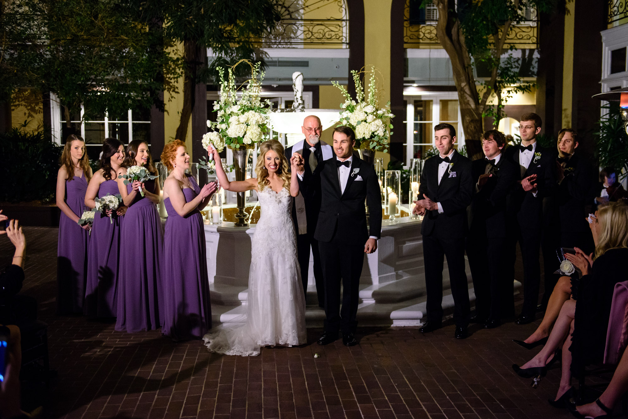 Just married at New Orleans' Hotel Mazarin